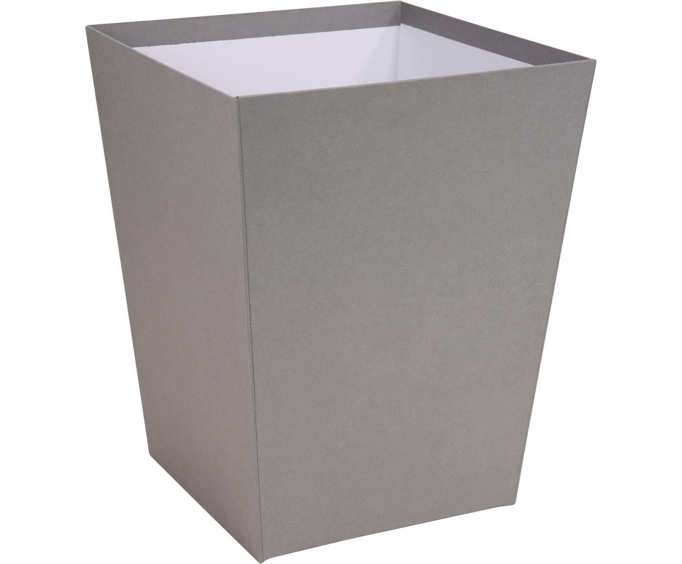 Papierkorb Sofia, Fester, laminierter Karton, Grau, 26 x 33 cm