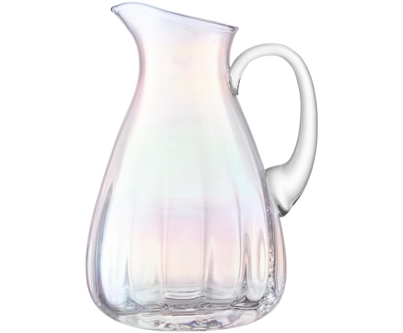 Caraffa in vetro soffiato Pearl, Vetro, Riflessi madreperlacei, 2.2 L