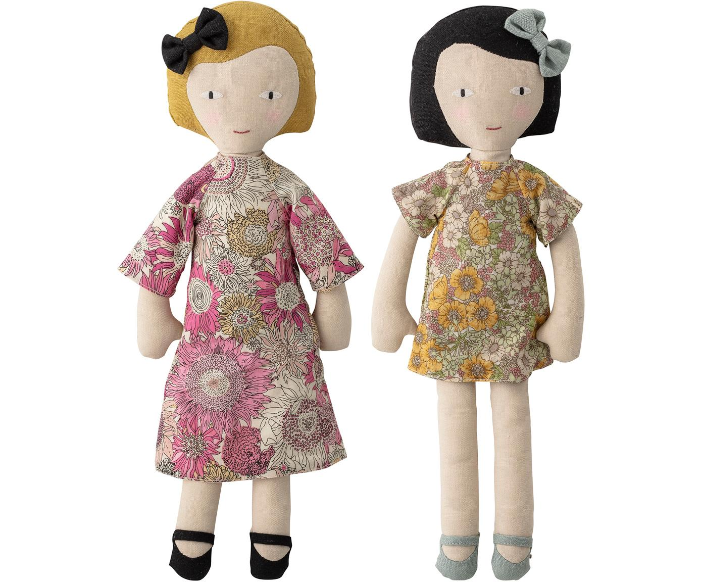 Set de muñecas, 2pzas., Tapizado: 65% poliéster, 35% algodó, Multicolor, An 10 x Al 36 cm