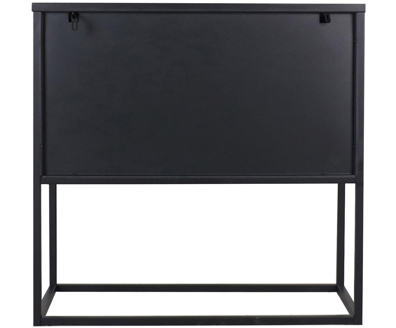 Komoda z metalu Newton, Metal lakierowany, Czarny, S 82 x W 80 cm