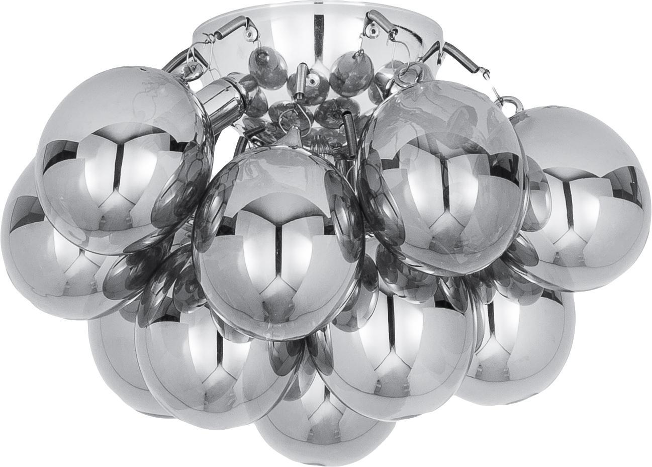 Kleine Glaskugel-Deckenleuchte Gross, Chrom, Ø 30 x H 20 cm