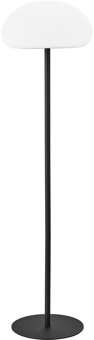 Lámpara de pie LED regulable para exterior Sponge, Plástico (PVC), Blanco, negro, Ø 34 x Al 126 cm