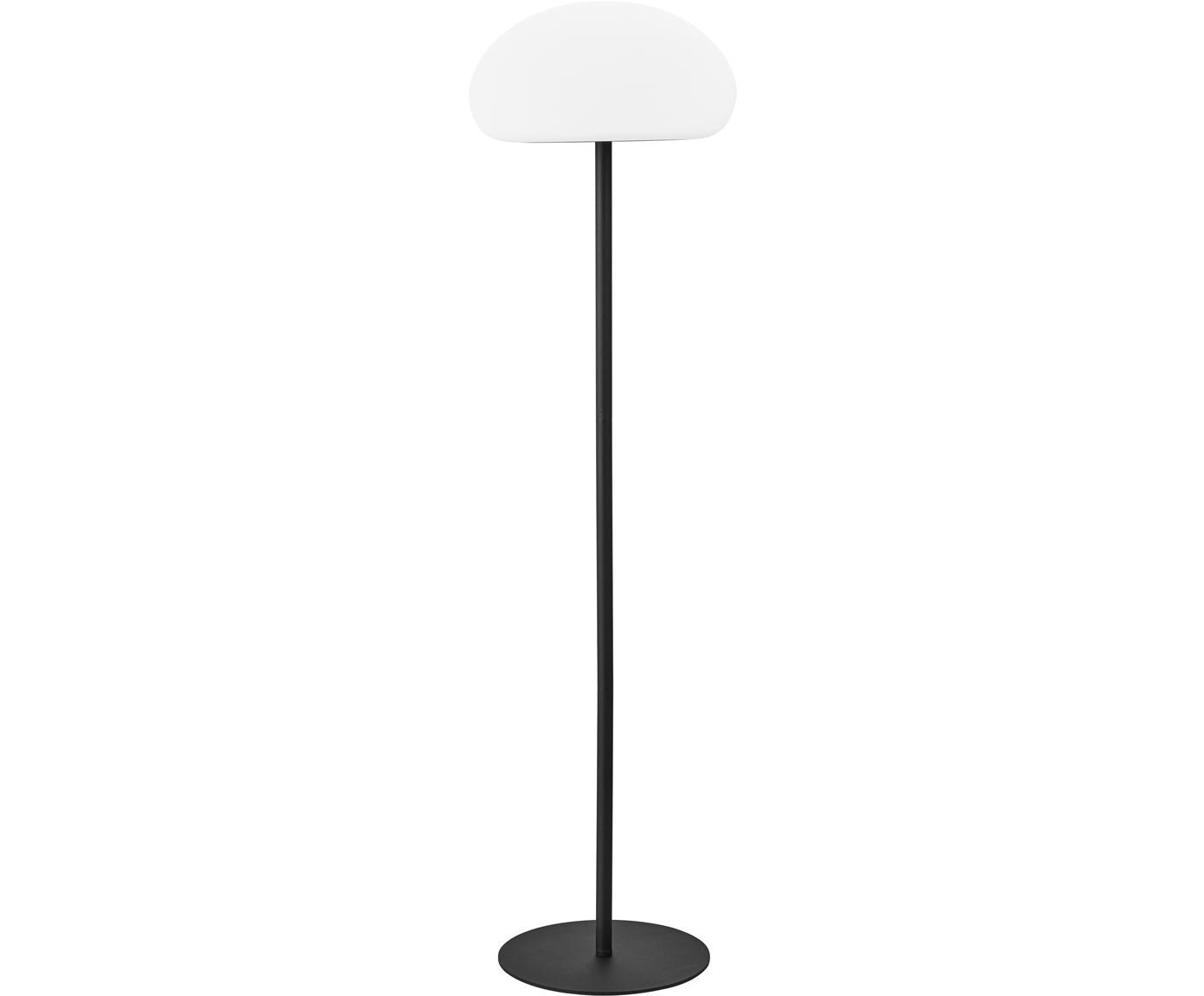 Dimbare outdoor LED vloerlamp Sponge, Kunststof (PVC), Wit, zwart, Ø 34 x H 126 cm