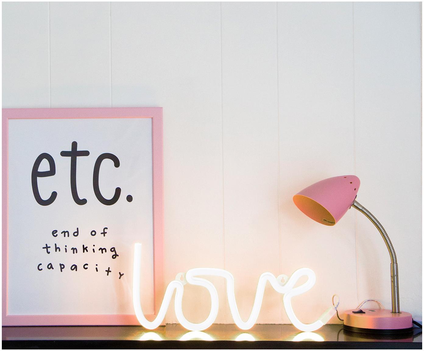 Wandlamp Love met stekker, Lamp: BPA-vrij PVC, Lichtkleur: geel. Wanneer uitgeschakeld, wordt het LED lampje wit., 38 x 16 cm