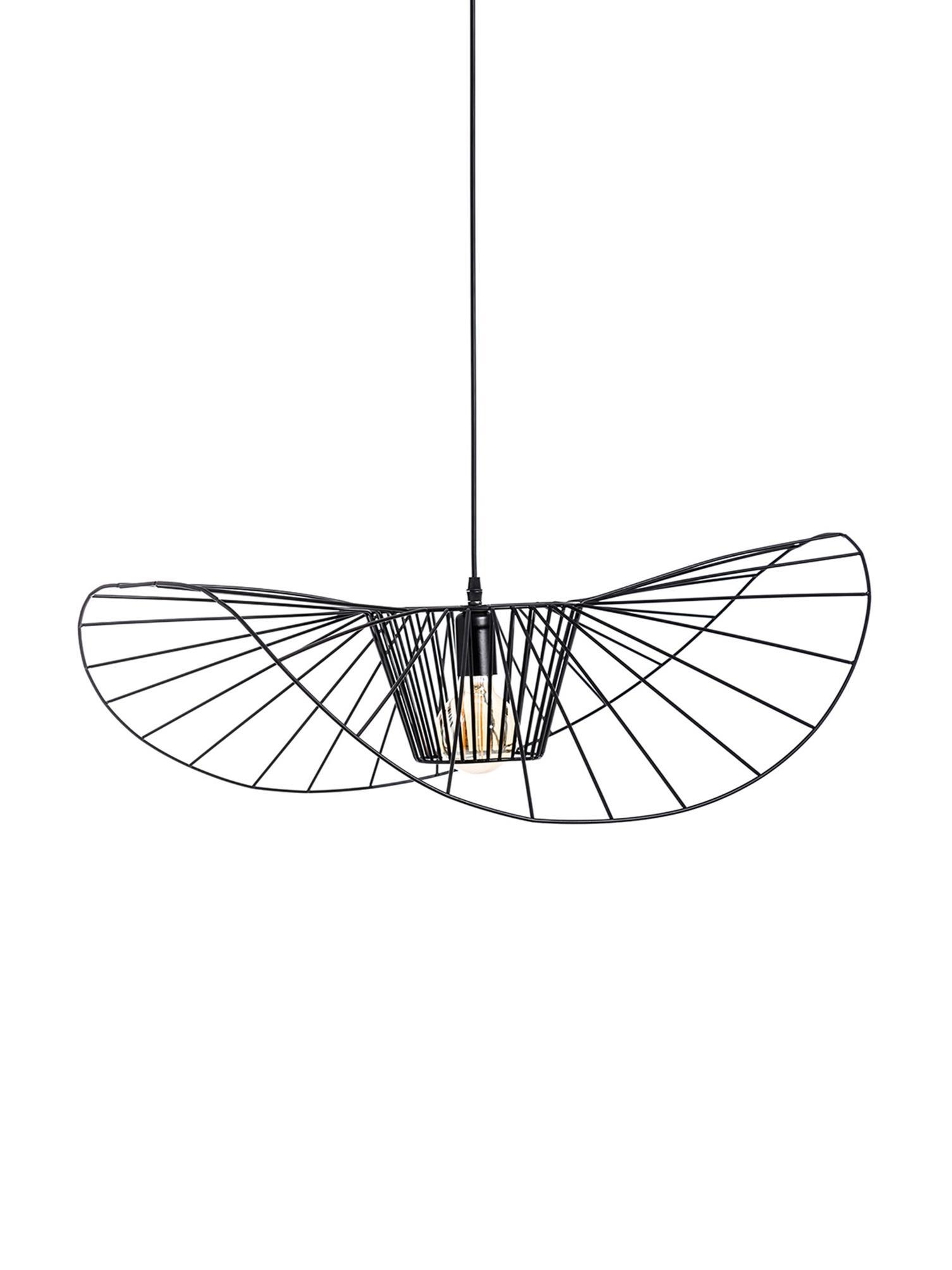Lampada a sospensione Stingray, Metallo rivestito, Nero, Ø 72 x Prof. 72 cm
