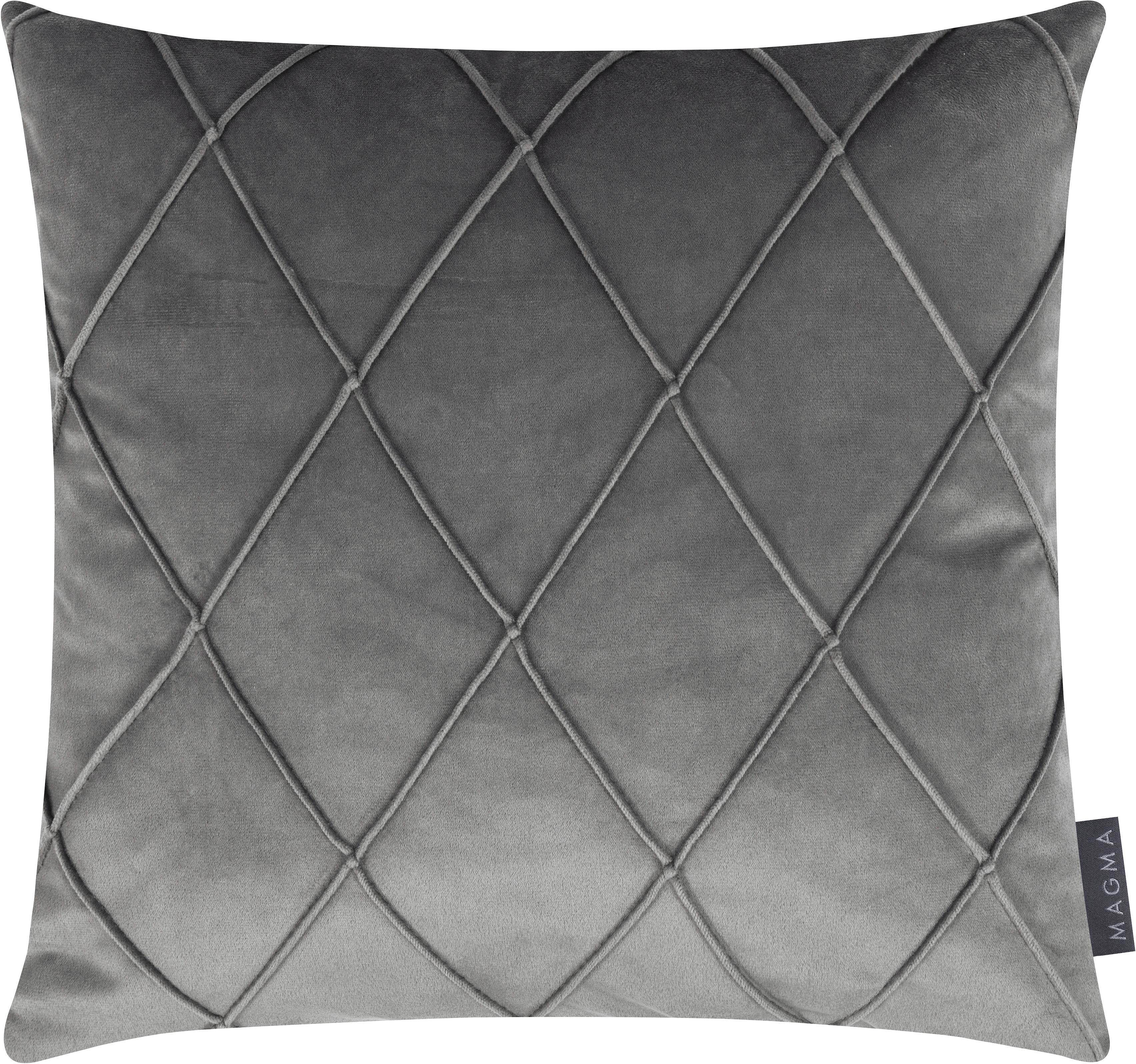 Sametový povlak na polštář s plastickým vzorem Nobless, Šedá
