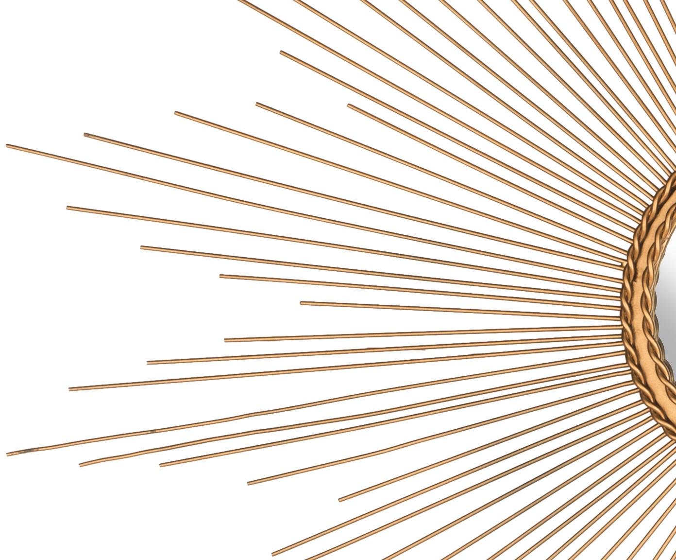 Lustro ścienne XL Fio, Odcienie złotego, Ø 104 cm
