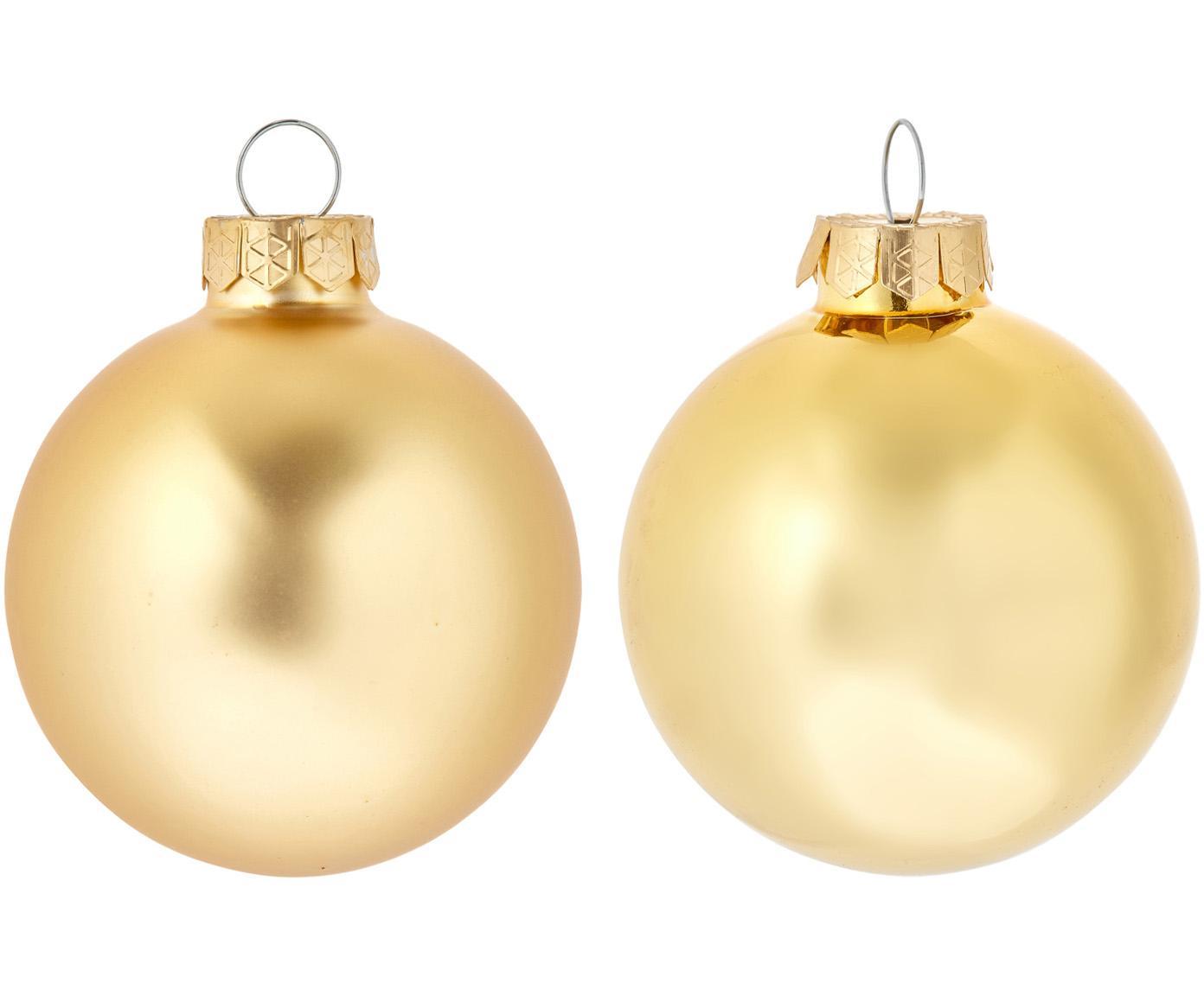 Set 6 palle di Natale Evergreen Ø 10 cm, Dorato, Ø 6 cm