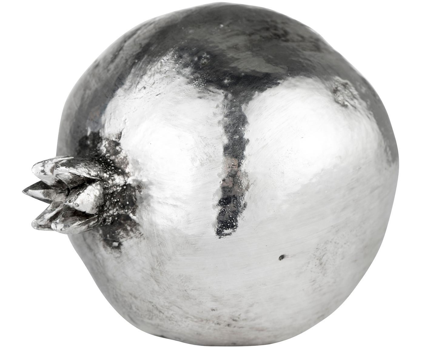 Dekoracja Serafina Pomegranate, Poliresing, Odcienie srebrnego, Ø 9 x W 10 cm