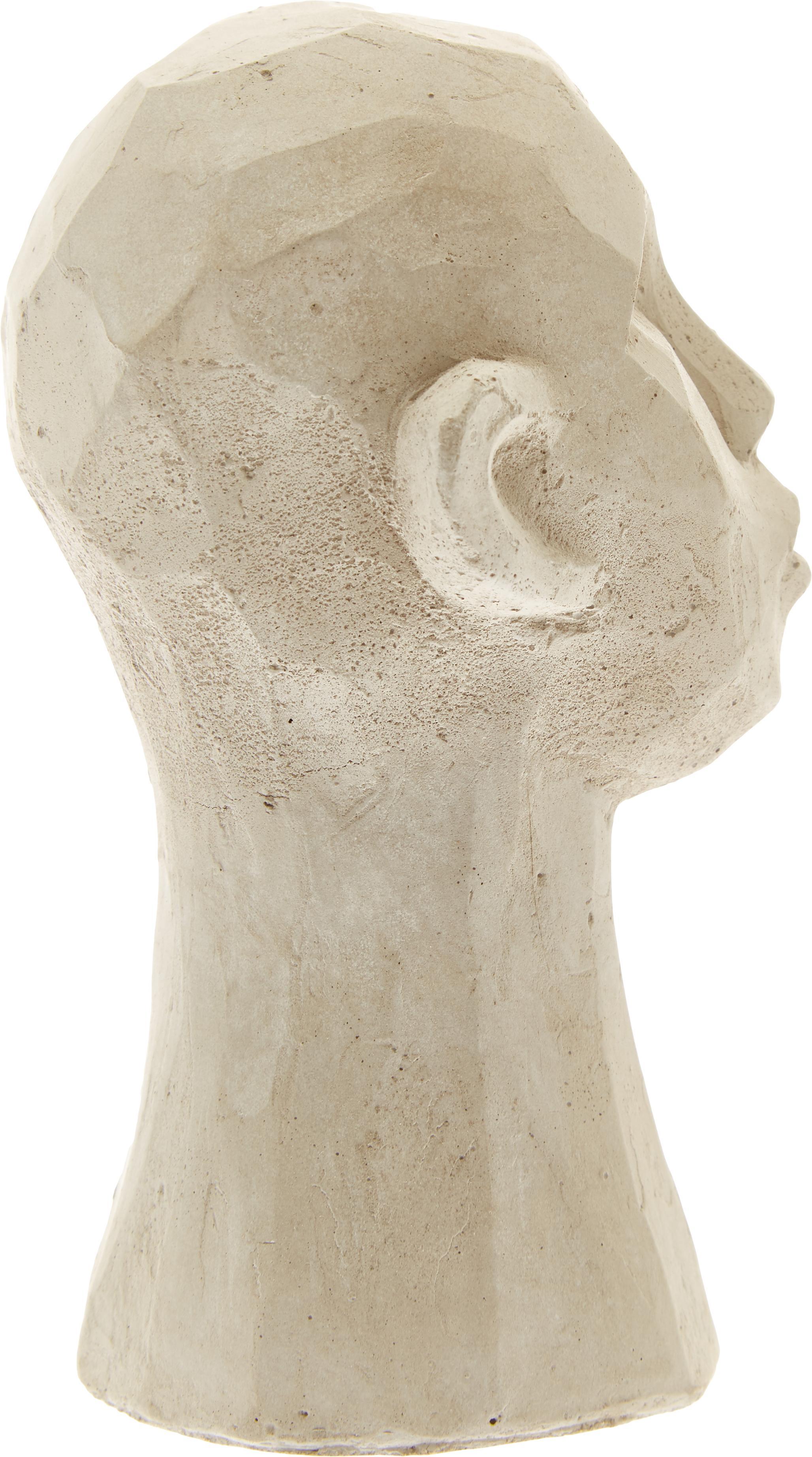 Set de figuras decorativas Figure Head, 3pzas., Cemento, Blanco, marrón, gris, Ø 9x Al 15 cm