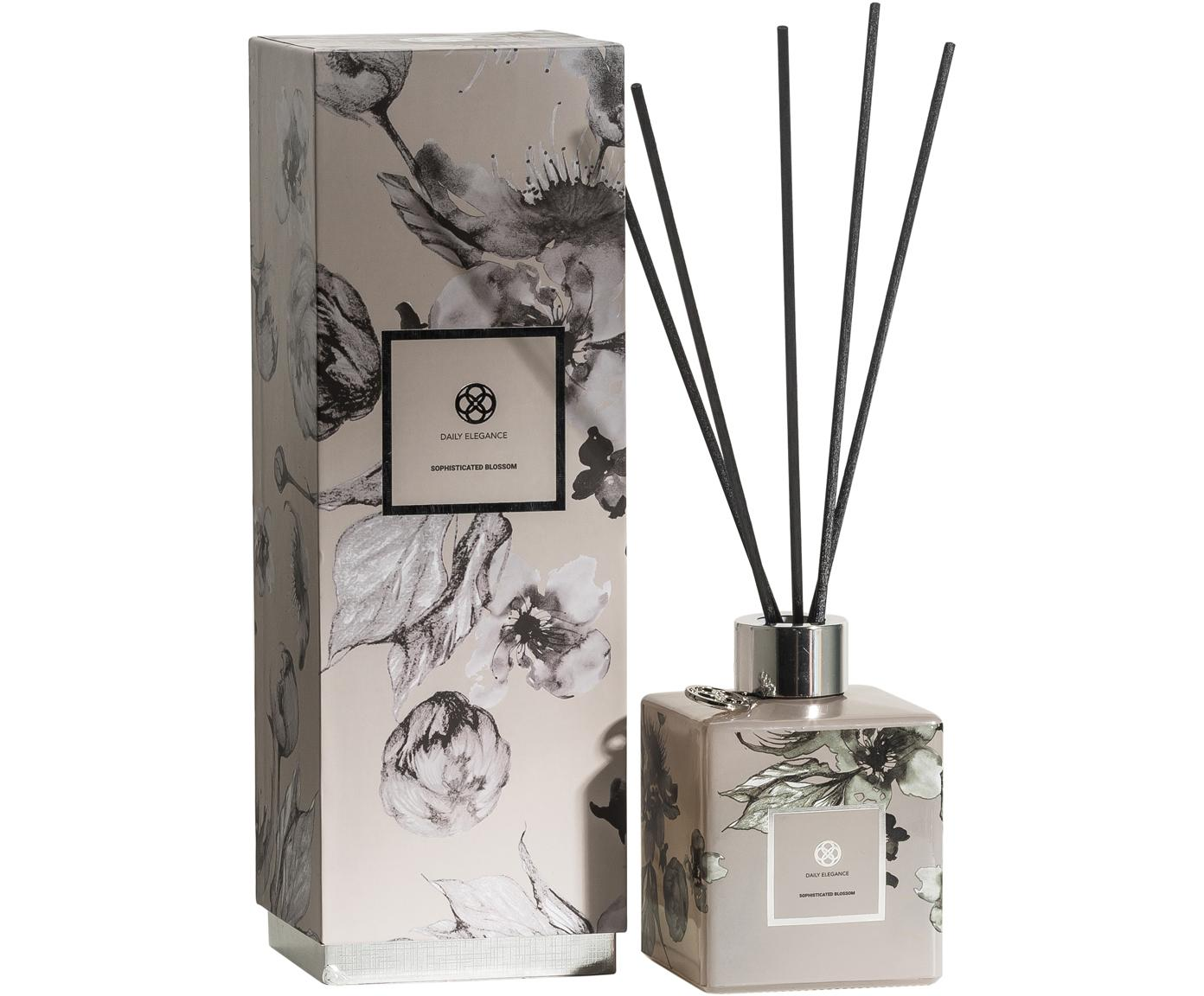 Diffusore Dawon, Contenitore: vetro, Beige, grigio, nero, Larg. 9 x Alt. 24 cm