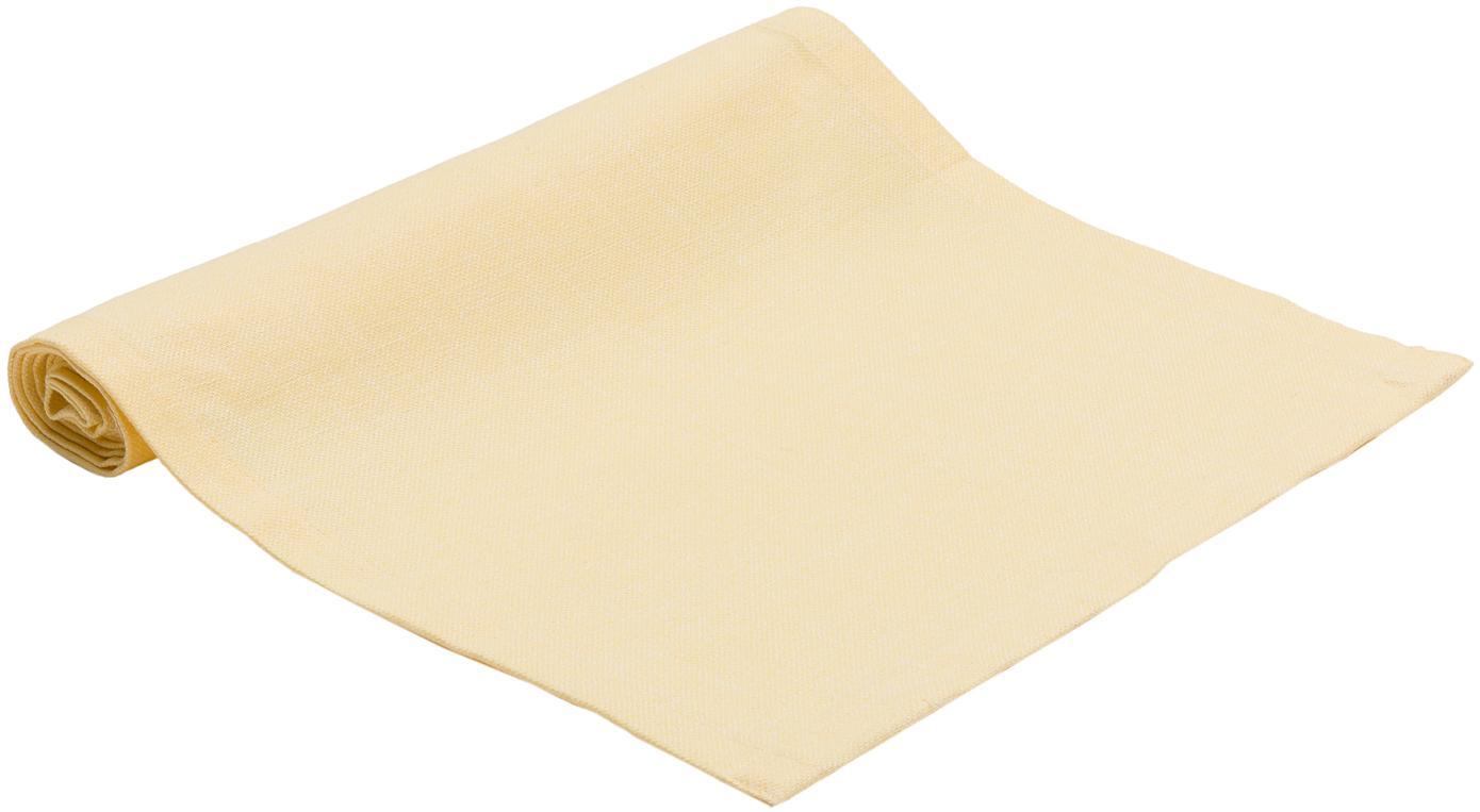 Tischläufer Riva, Webart: Jacquard, gelb, 40 x 150 cm