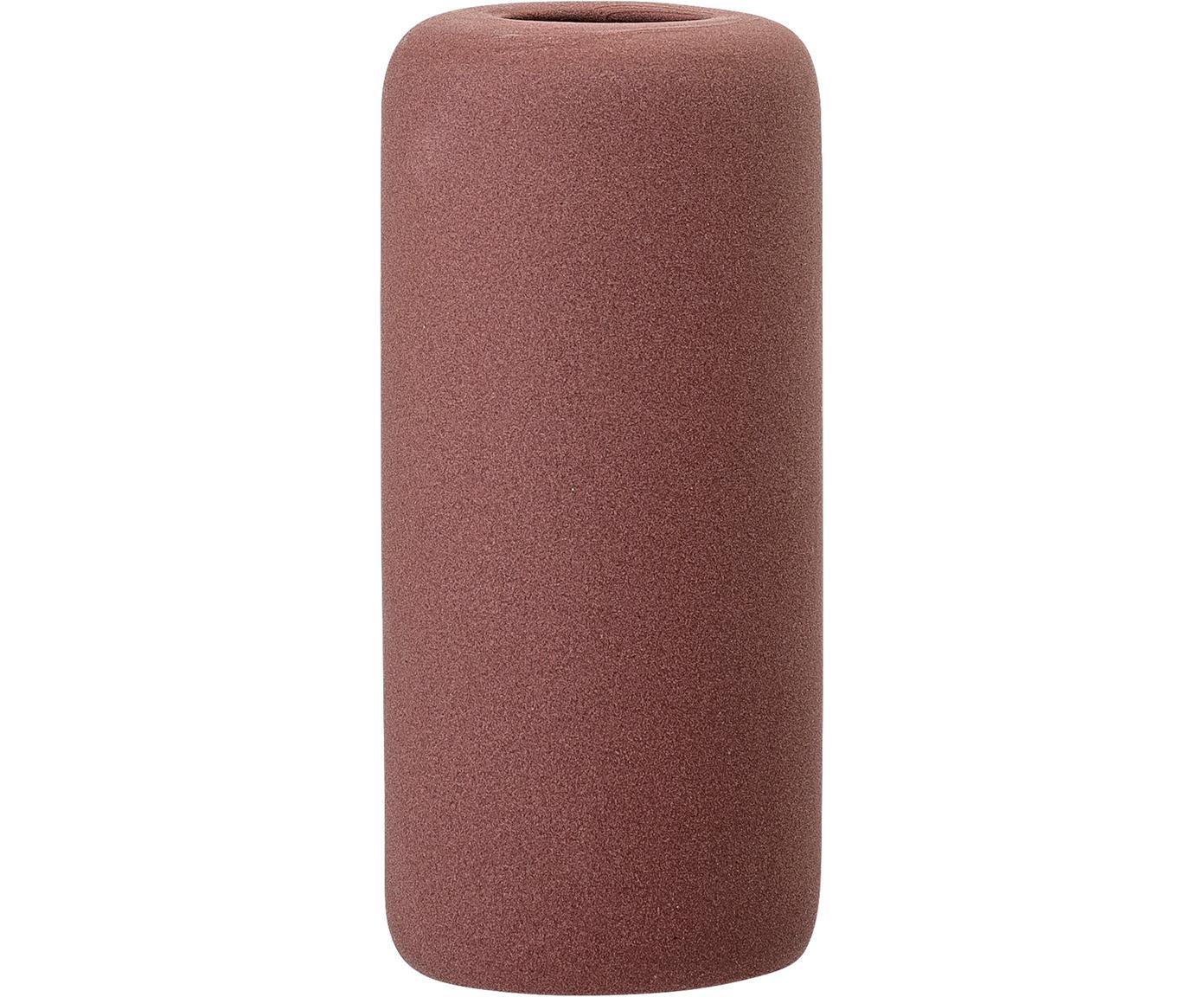 Jarrón de gres Redstone, Gres, Rojo burdeos, Ø 6 x Al 13 cm