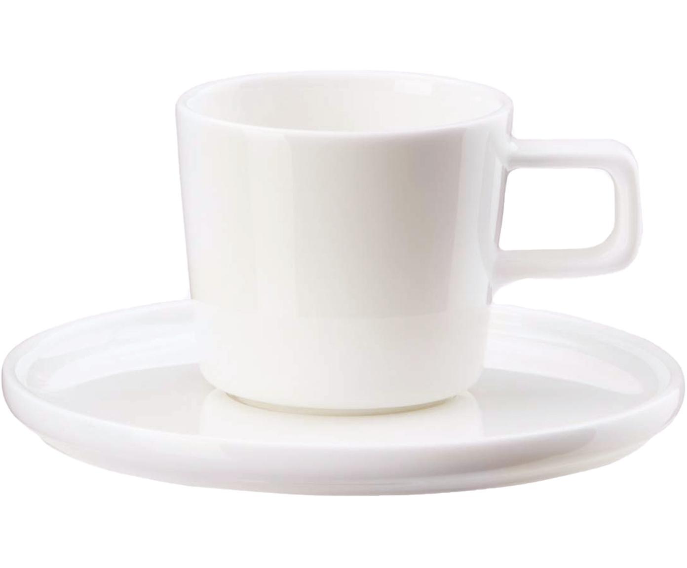 Set de tazas Oco, 12pzas., Porcelana fina, Blanco, Ø 6 x Al 7 cm