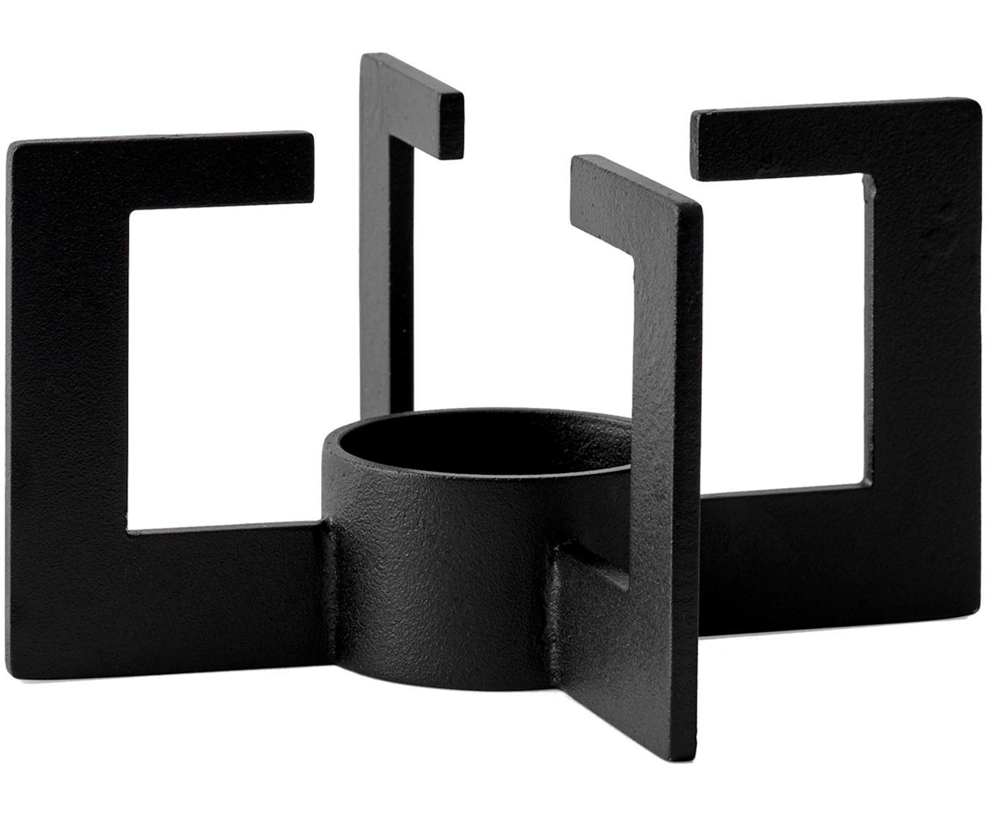 Stövchen Warm-Up, Metall, pulverbeschichtet, Gummi, Schwarz, Ø 8 x H 15 cm