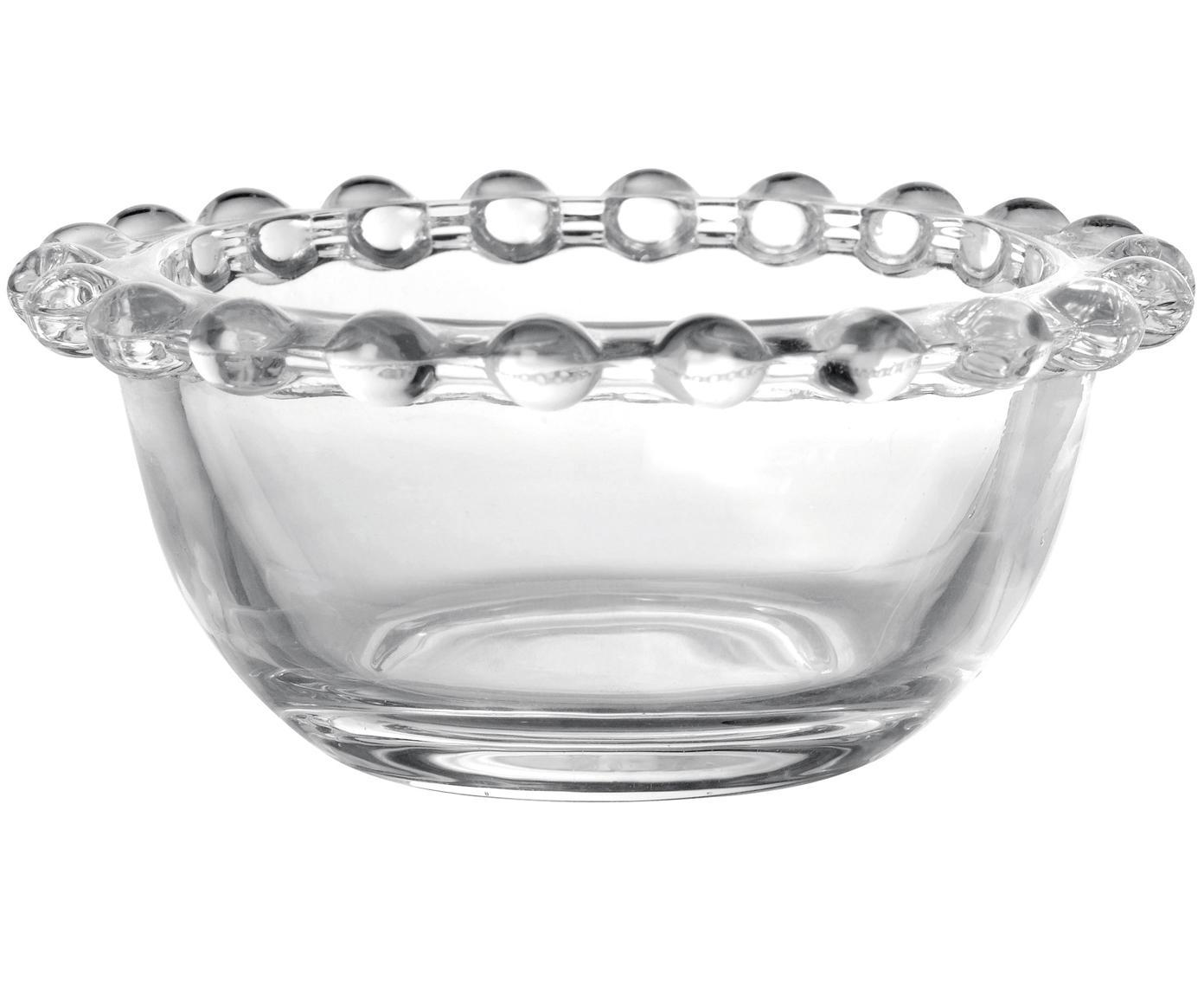 Cuencos pequeños Perles, 2uds., Vidrio, Transparente, Ø 9 x Al 4 cm