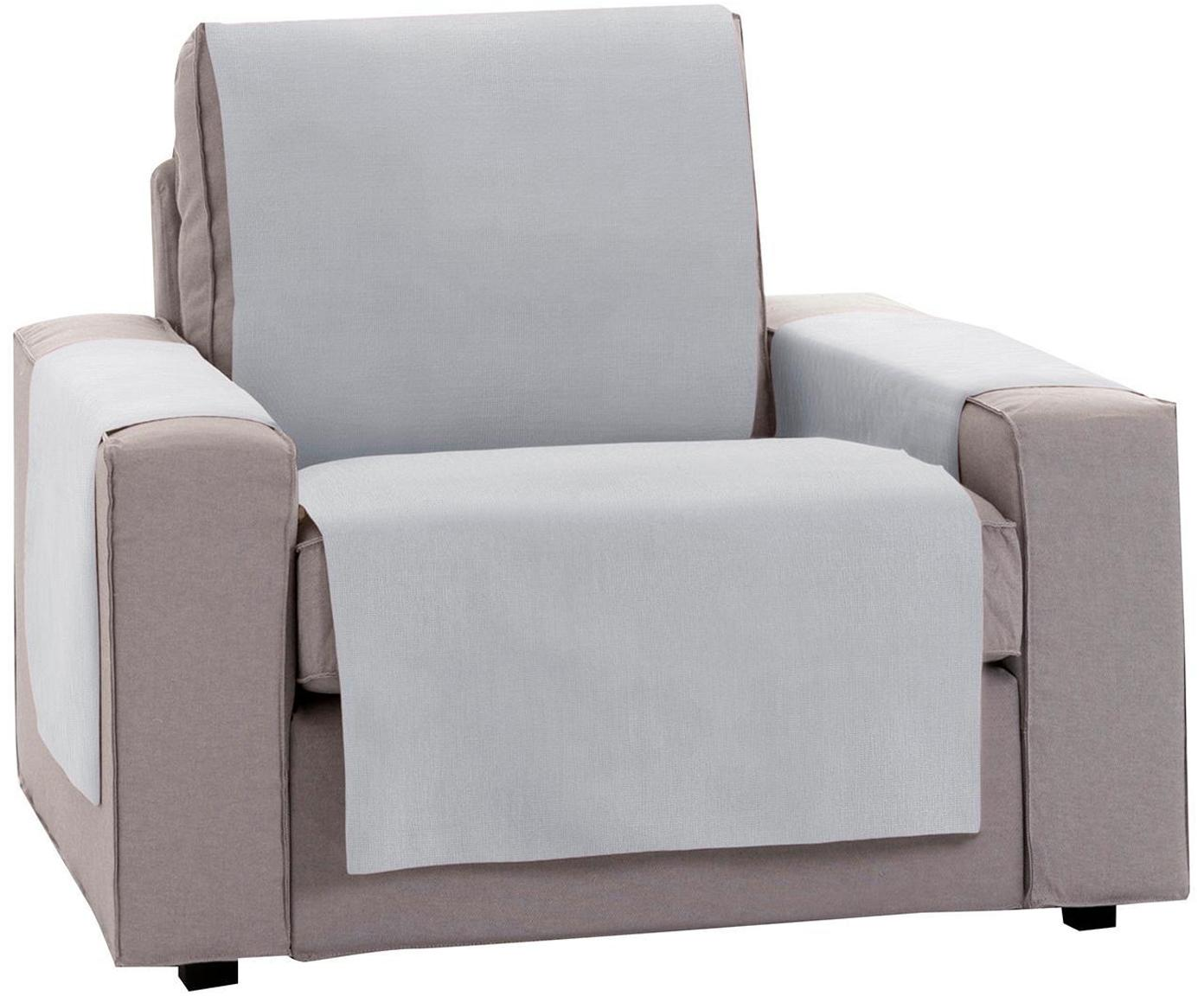 Funda de sillón Levante, 50%algodón, 50%poliéster, Gris, An 55 x L 220 cm