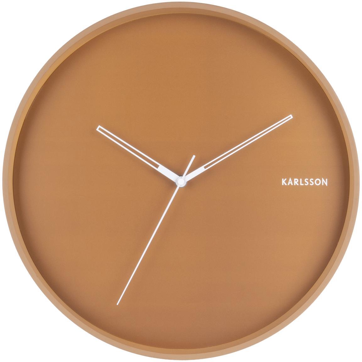 Reloj de pared Hue, Metal recubierto, Caramelo, blanco, Ø 40 cm