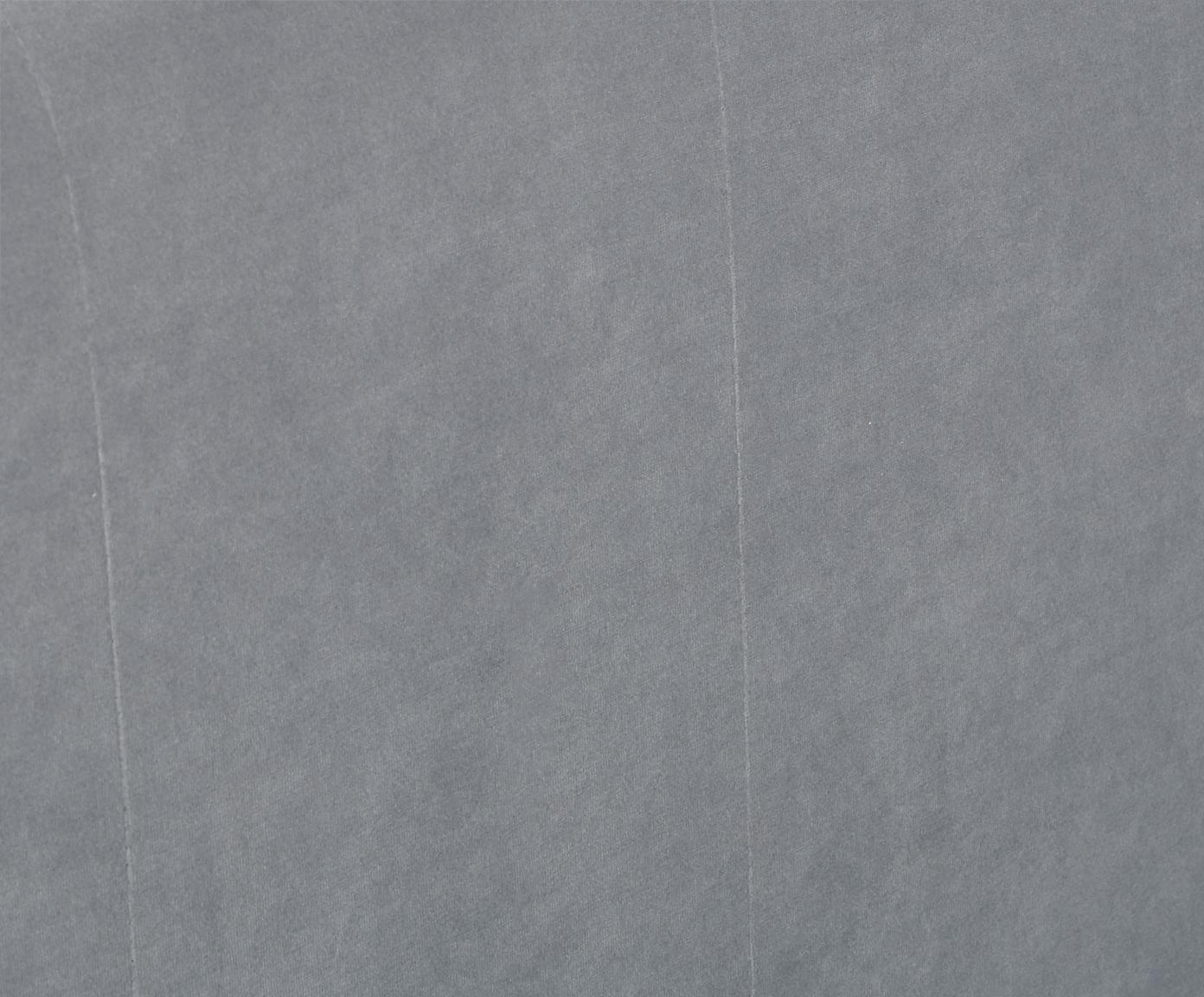 Premium fluwelen boxspring bed Lacey, Matras: 7-zones-pocketveringkern , Poten: massief gelakt beukenhout, Donkergrijs, 140 x 200 cm