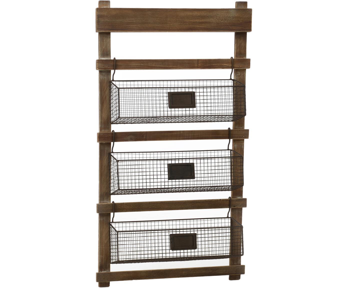 Estantería Mat, Estructura: madera, Marrón, negro, An 55 x Al 64 cm
