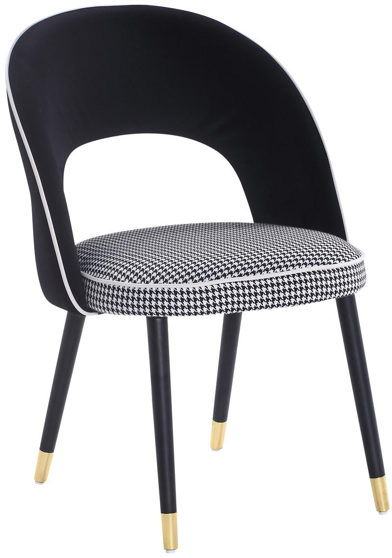 Silla tapizada London, Tapizado: terciopelo 100%poliéster, Negro, An 58 x F 60 cm
