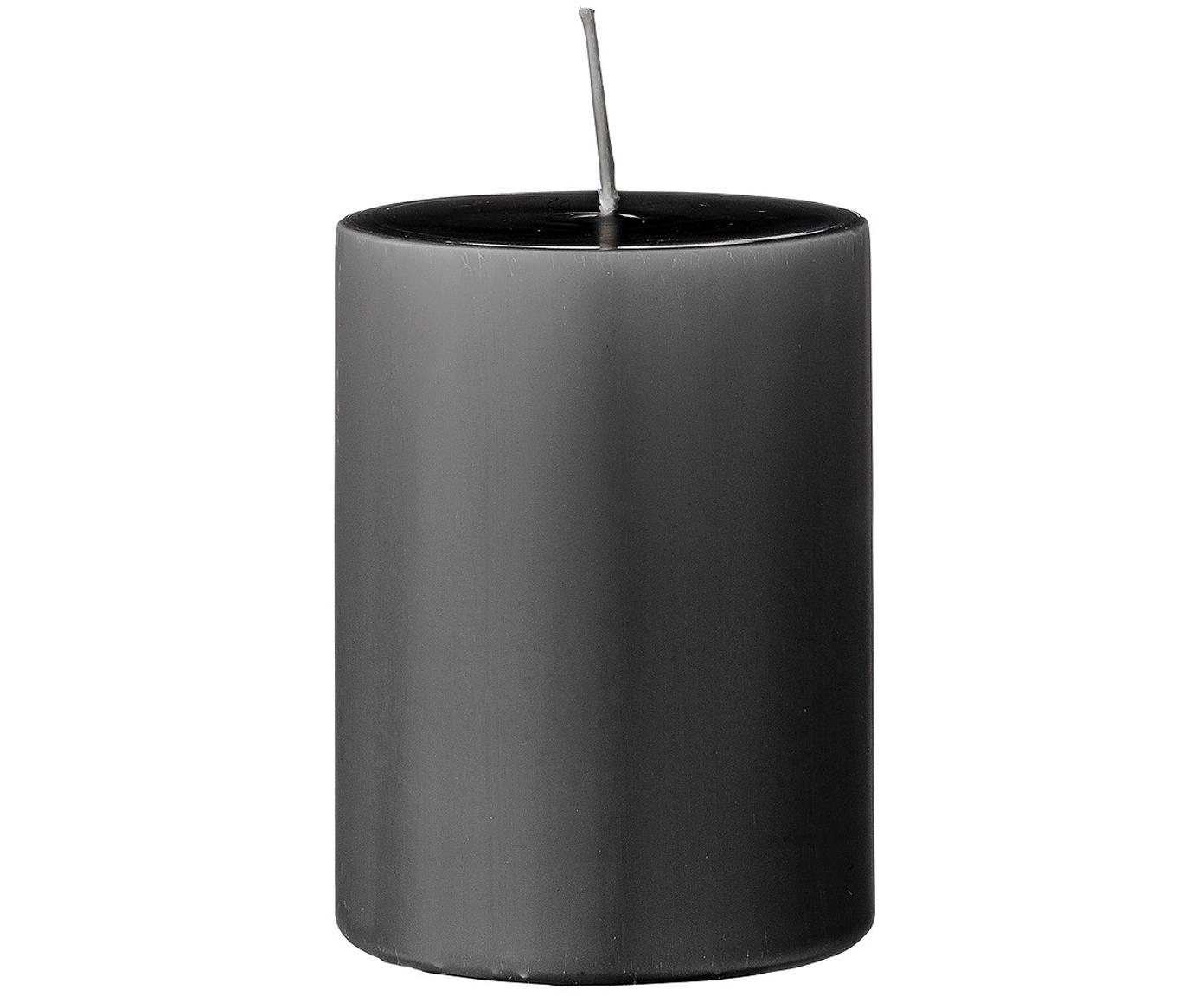 Stompkaarsen Lulu, 4 stuks, Was, Grijs, Ø 7 x H 10 cm