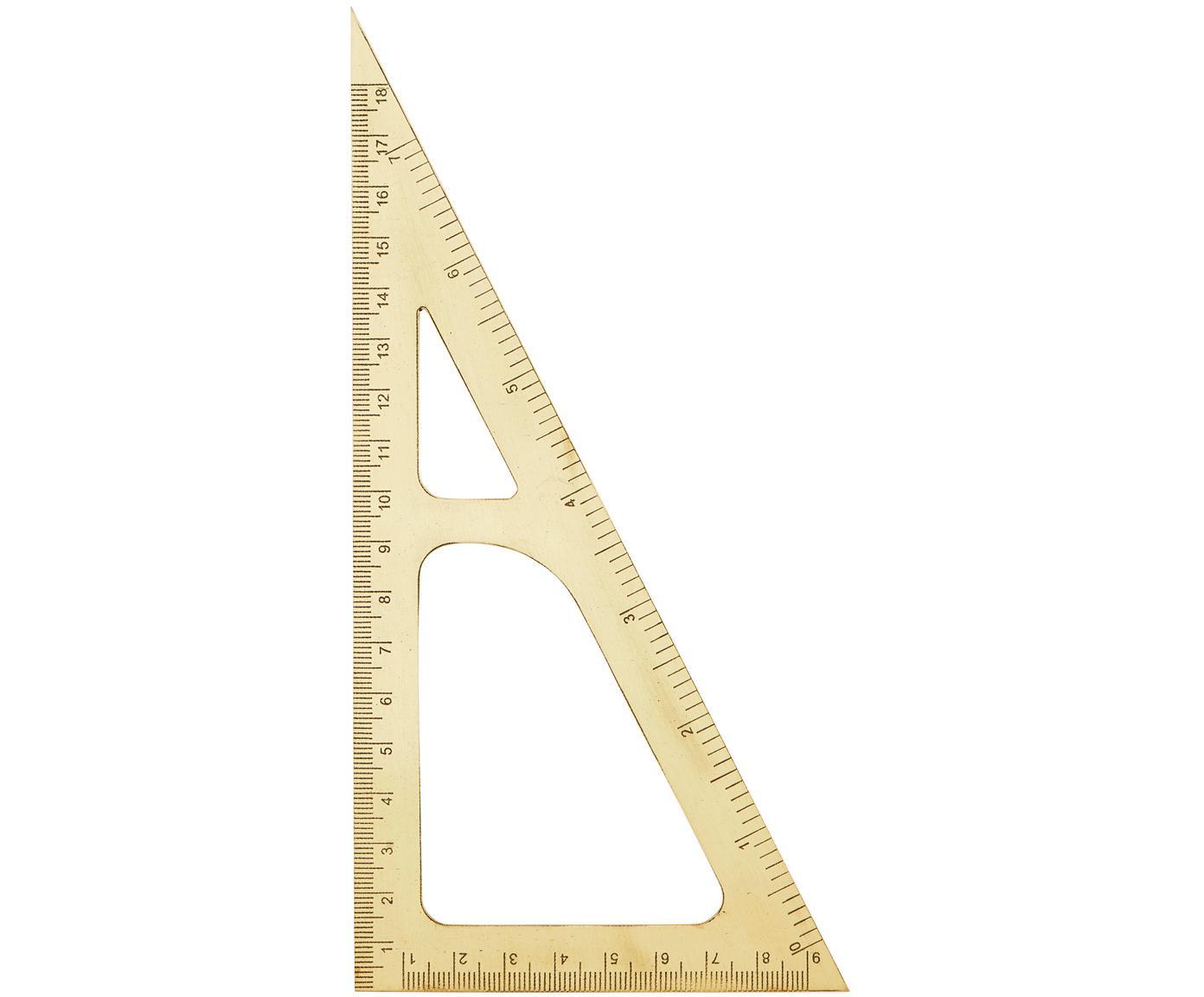 Geodriehoek Ruler, Messing, Messing, L 19 cm