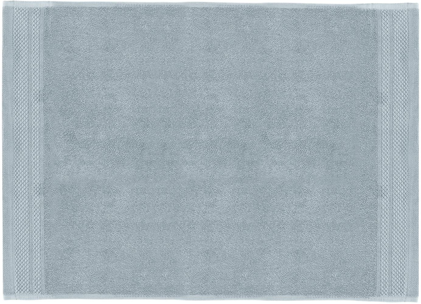 Alfombrilla de baño Premium, antideslizante, 100%algodón Gramaje superior 600g/m², Azul claro, An 50 x L 70 cm