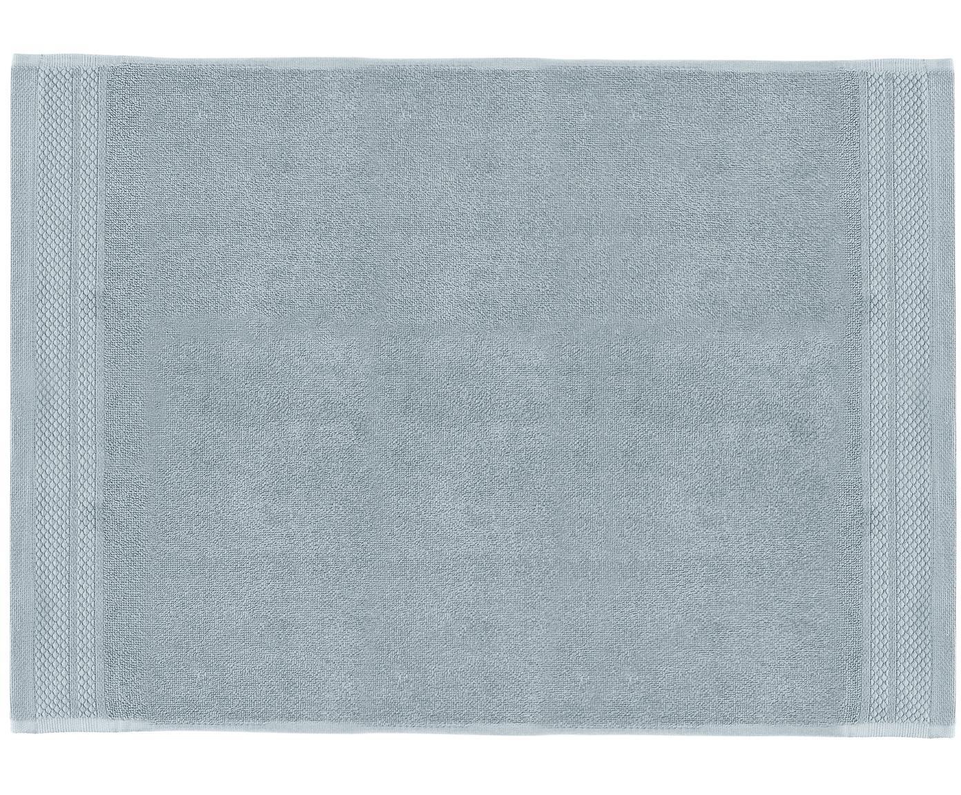 Tappeto bagno antiscivolo Premium, 100% cotone, qualità pesante 600g/m², Azzurro, Larg. 50 x Lung. 70 cm