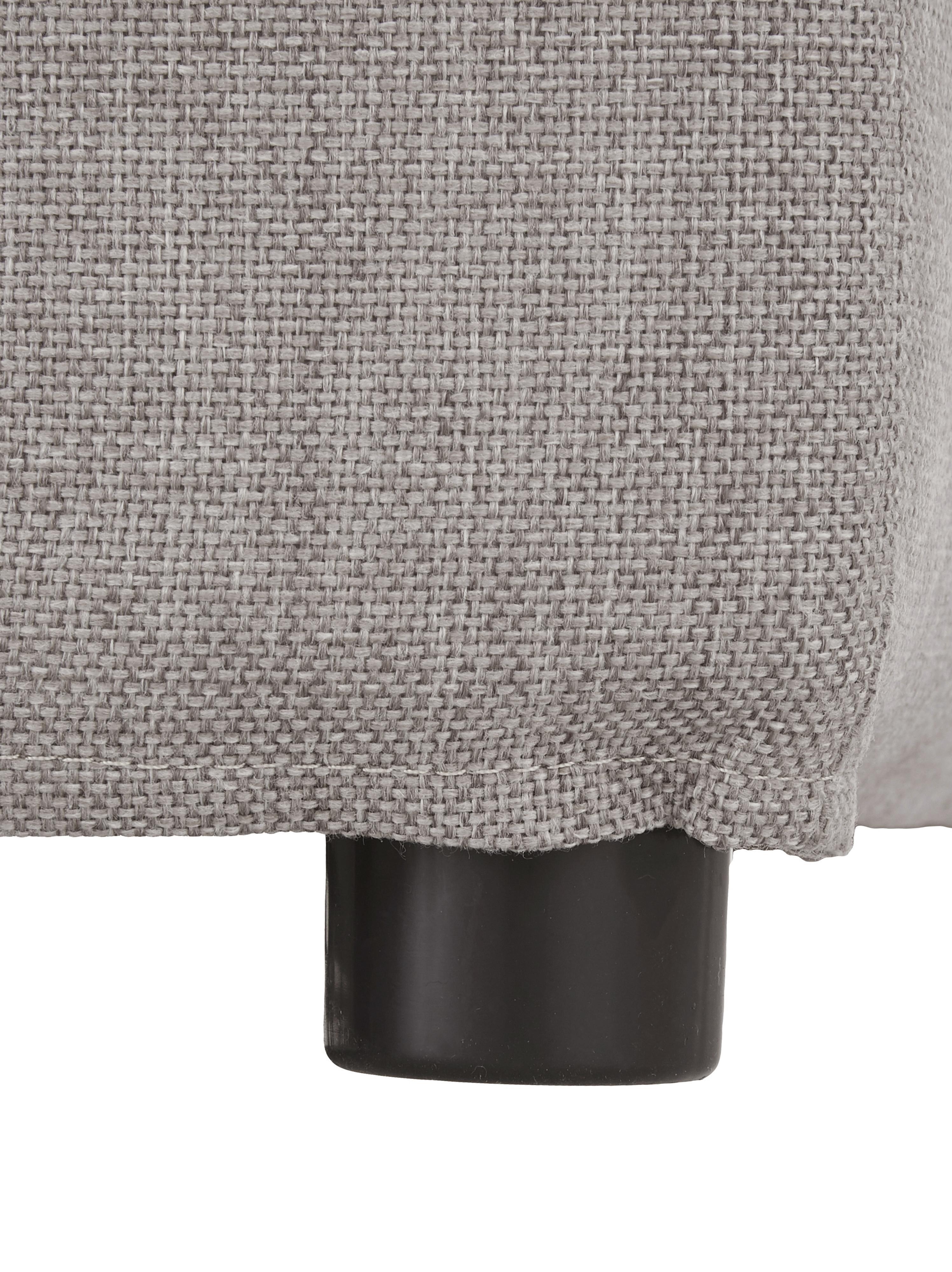 Hoekbank Zach, Bekleding: polypropyleen, Poten: kunststof, Geweven stof taupe, B 300 x D 213 cm