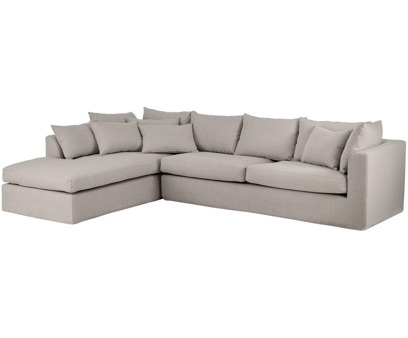Canapé d'angle Zach, Tissu taupe