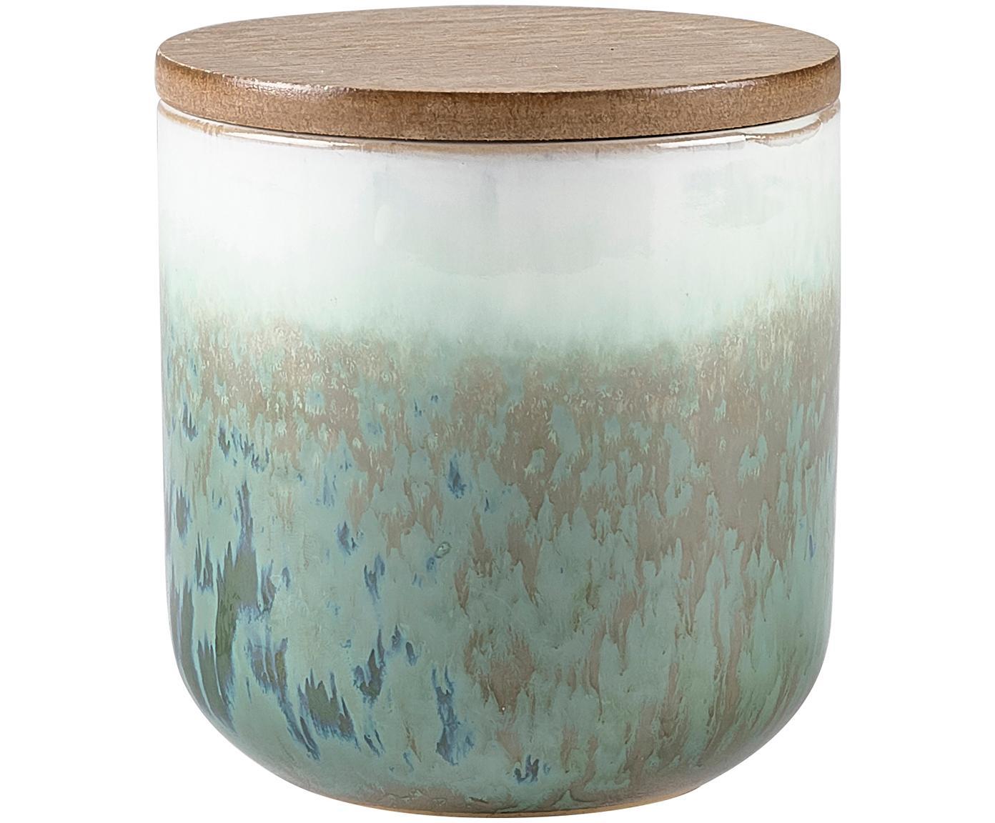 Candela profumata Cactus Blossom, Contenitore: ceramica, Verde, beige, bianco, Ø 9 x Alt. 9 cm