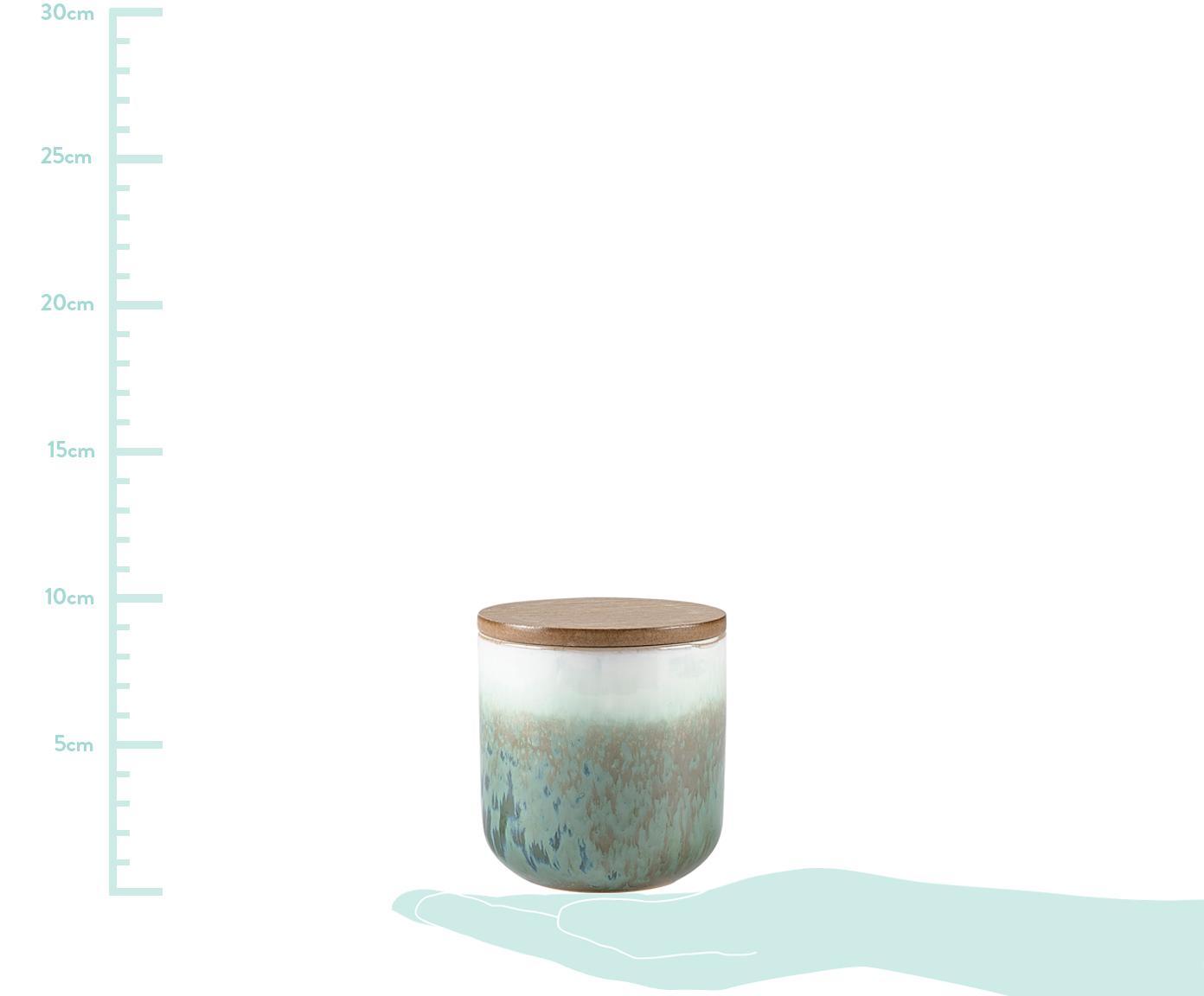 Świeca zapachowa Cactus Blossom, Odcienie zielonego, beżowy, biały, Ø 9 x W 9 cm