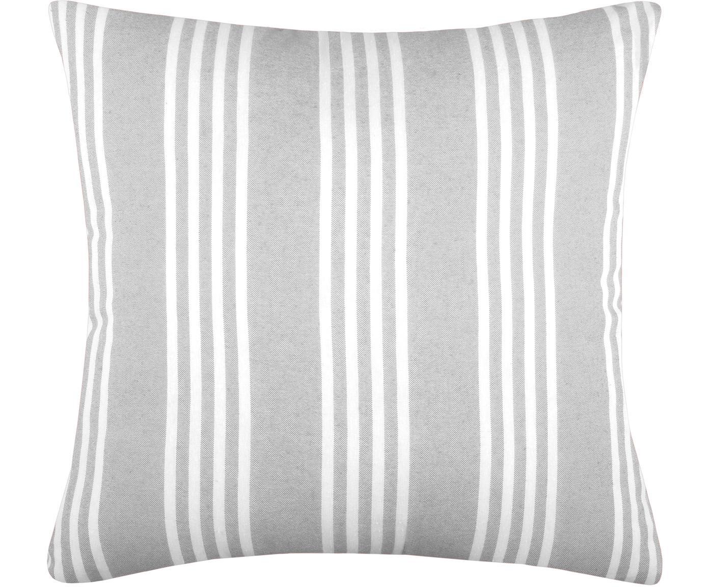 Poduszka z wypełnieniem Mandelieu, Mieszanka bawełny, Jasnoszary, biały, S 50 x D 50 cm