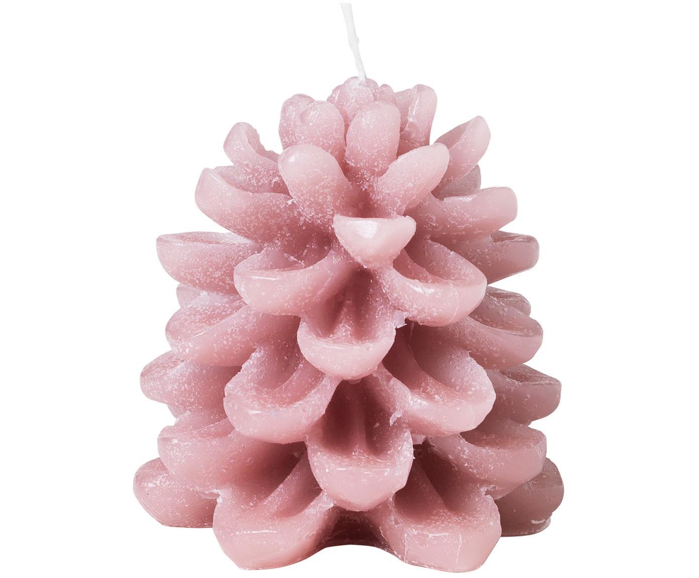 Świeca dekoracyjna Cone, 2 szt., Parafina, Blady różowy, Ø 9 x W 8 cm