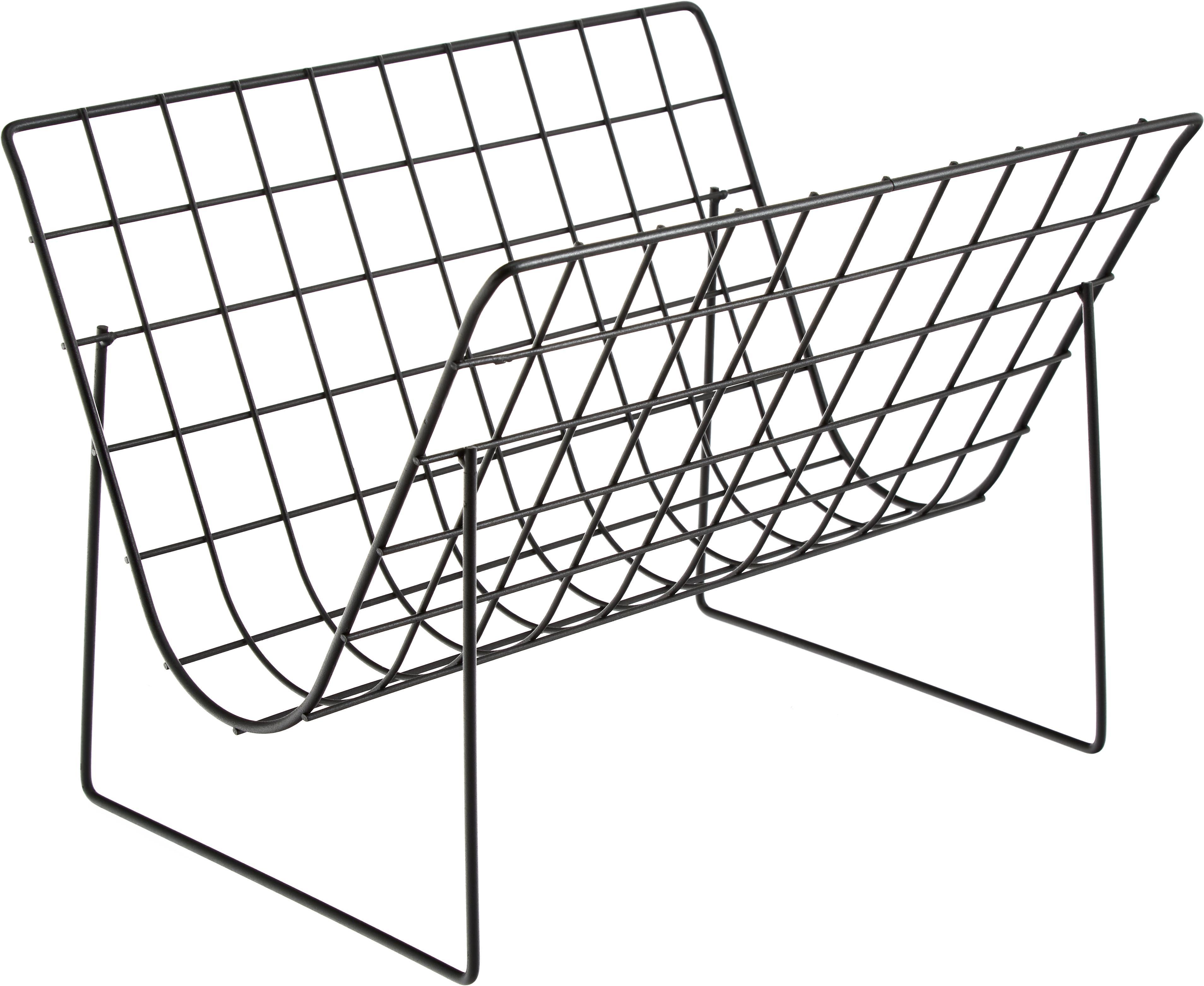 Portariviste Brando, Acciaio, rivestito, Nero, P 40 x A 29 cm