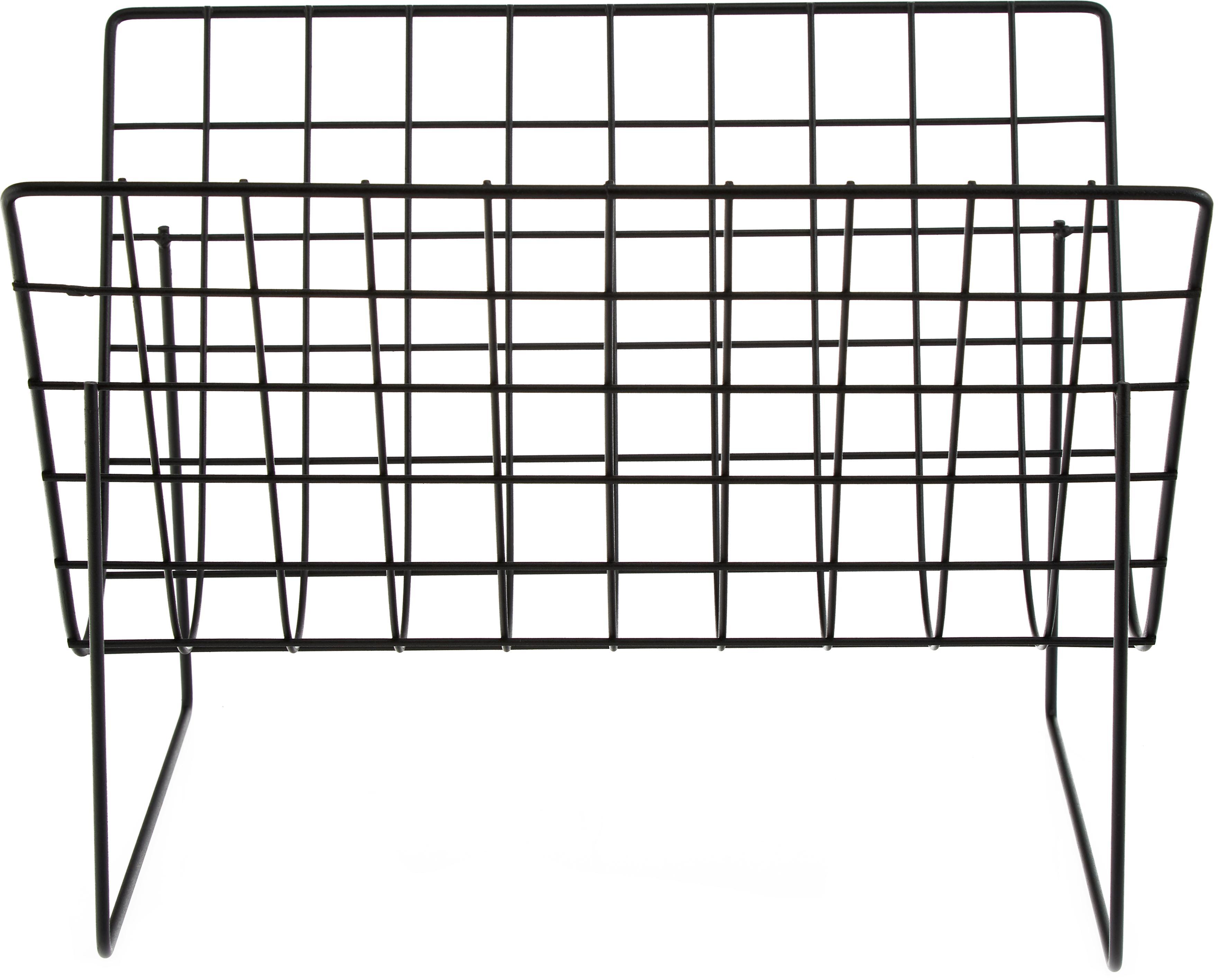 Zeitschriftenhalter Brando, Stahl, beschichtet, Schwarz, 40 x 29 cm