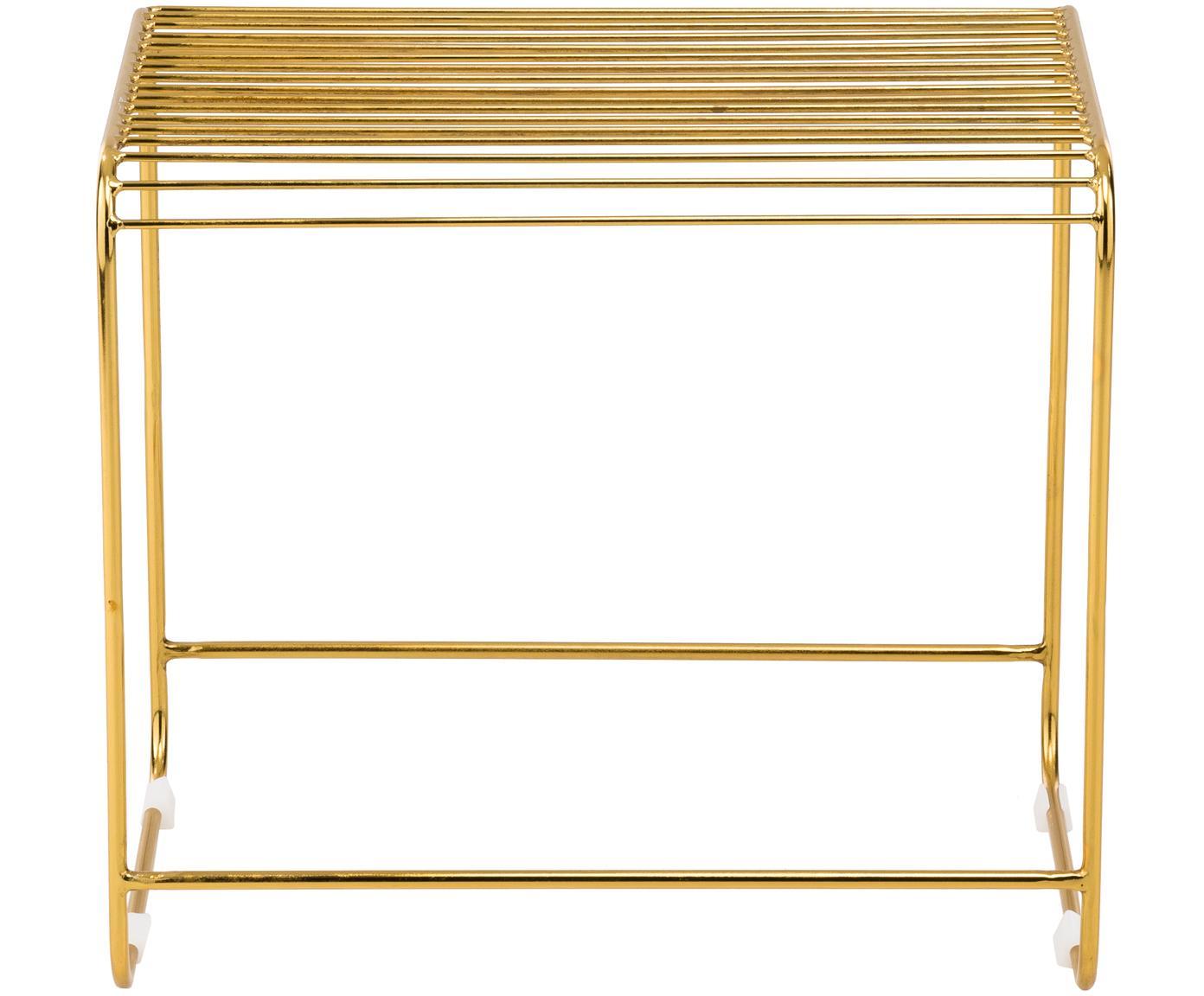 Hocker / Beistelltisch Wire, Metall, lackiert, Gold, 50 x 45 cm