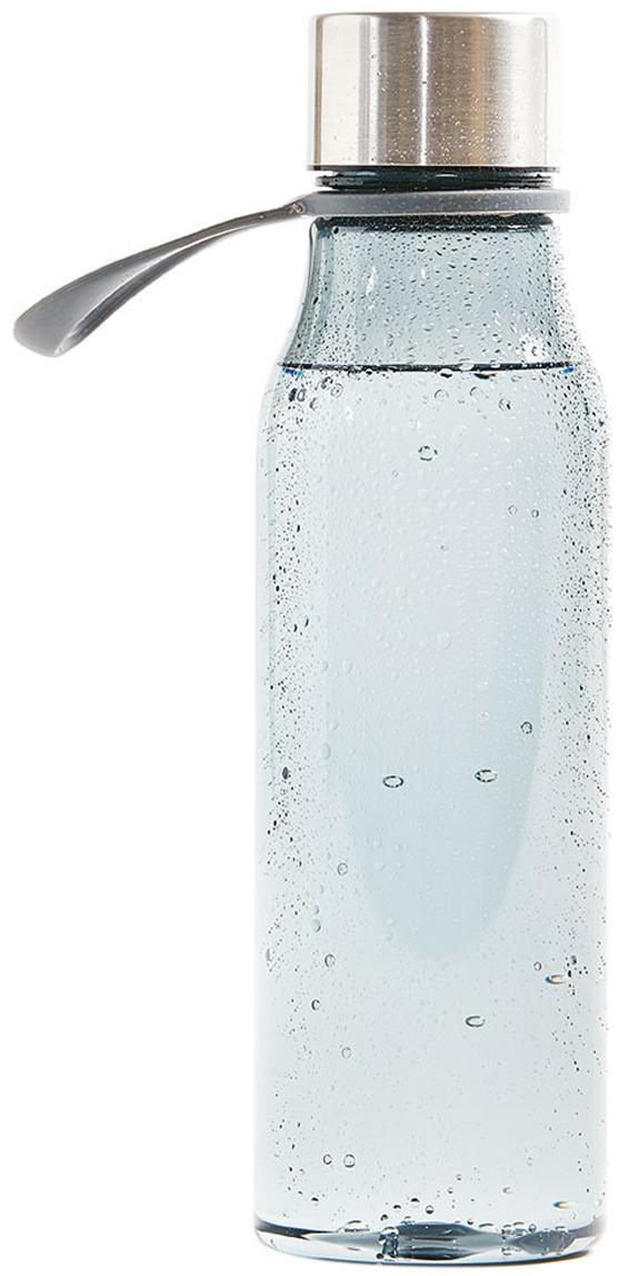 Kleine To Go Trinkflasche Lean, Flasche: Tritan (Kunststoff), BPA-, Grau, Stahl, 570 ml