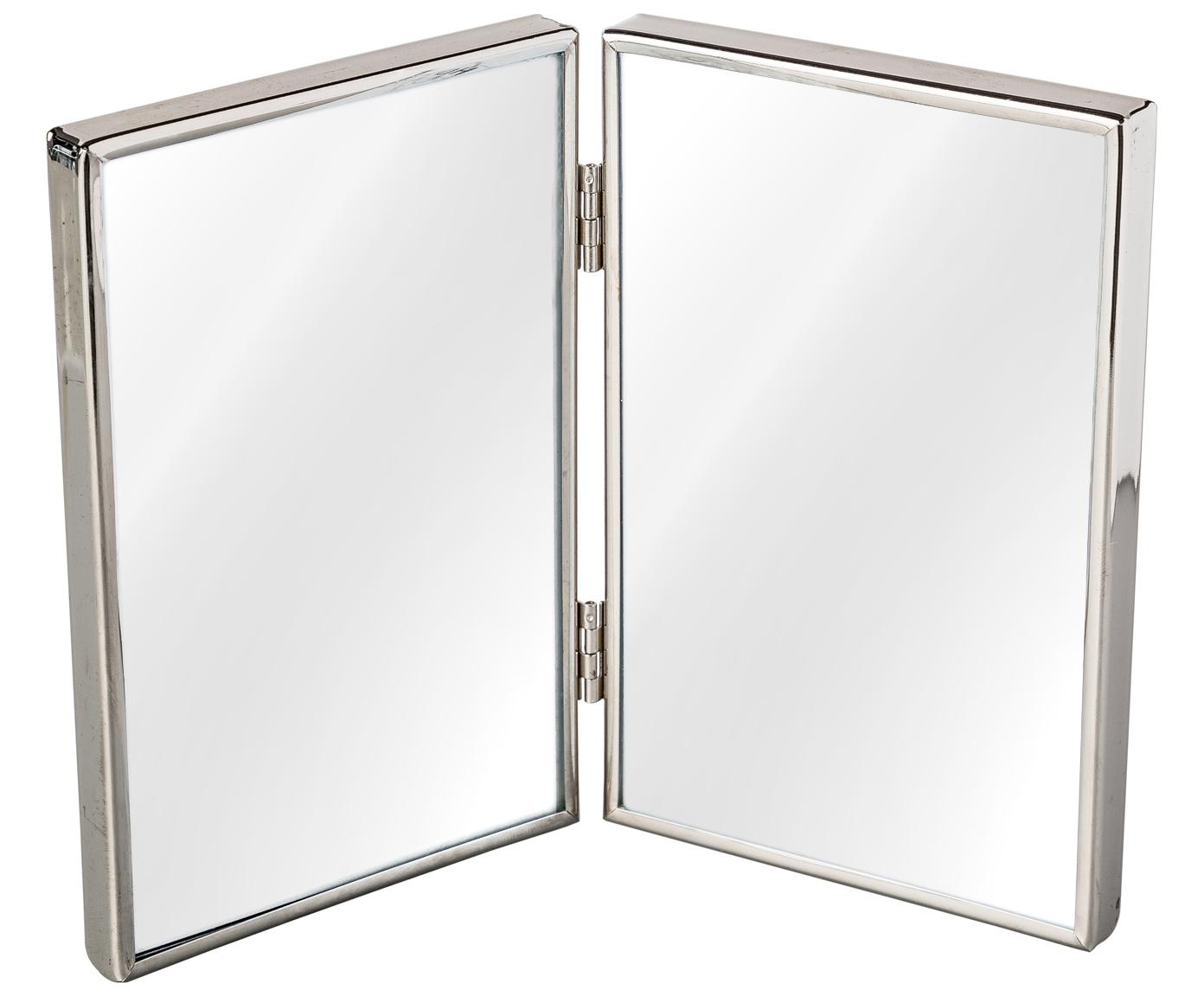 Cornice Twinny, Metallo, vetro, Argento, 10 x 15 cm