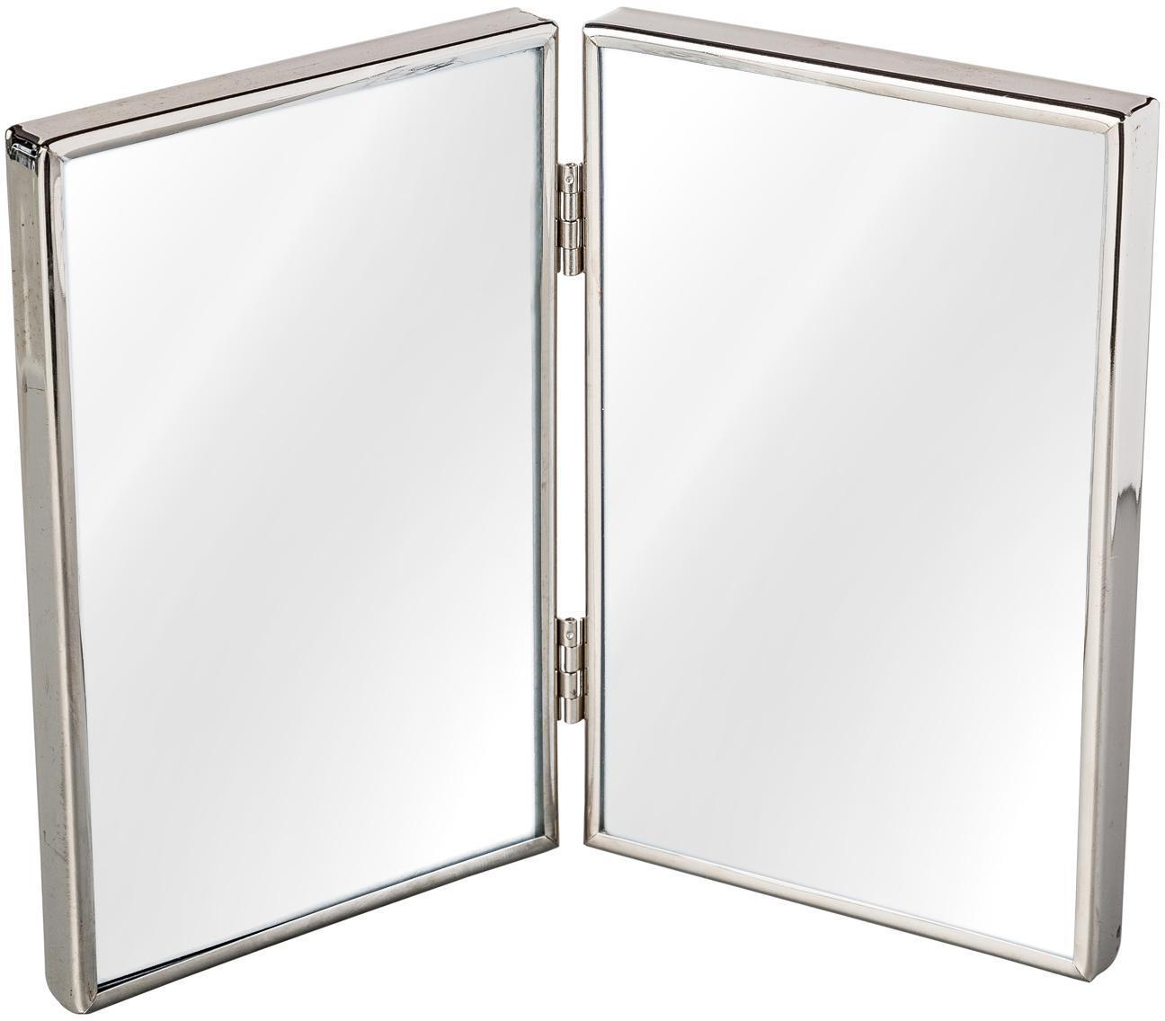 Portafoto multiplo in metallo Twinny, Metallo, vetro, Argento, 10 x 15 cm