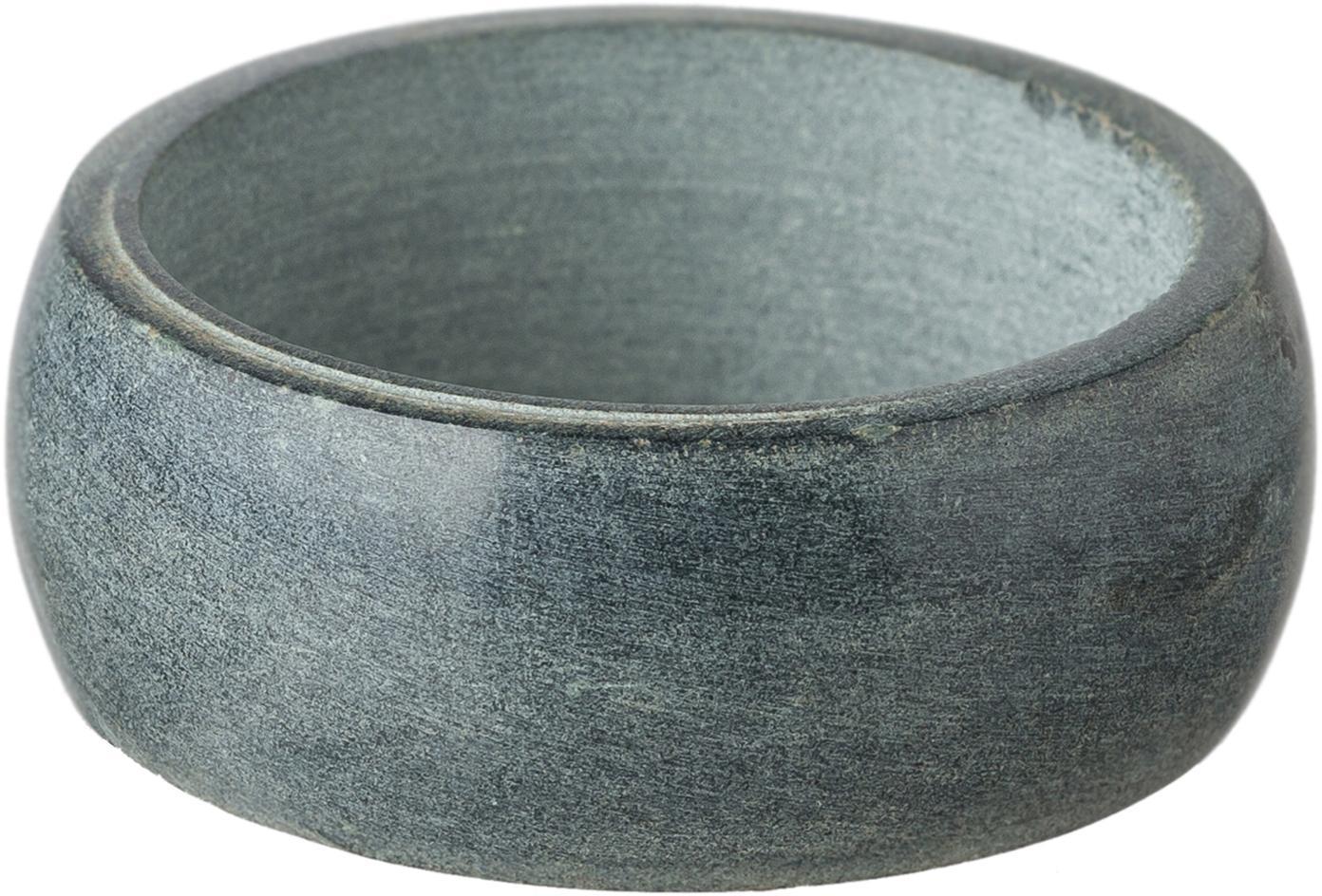 Servilleteros Soap Stone, 6uds., Esteatita, Gris antracita, Ø 5 x Al 2 cm