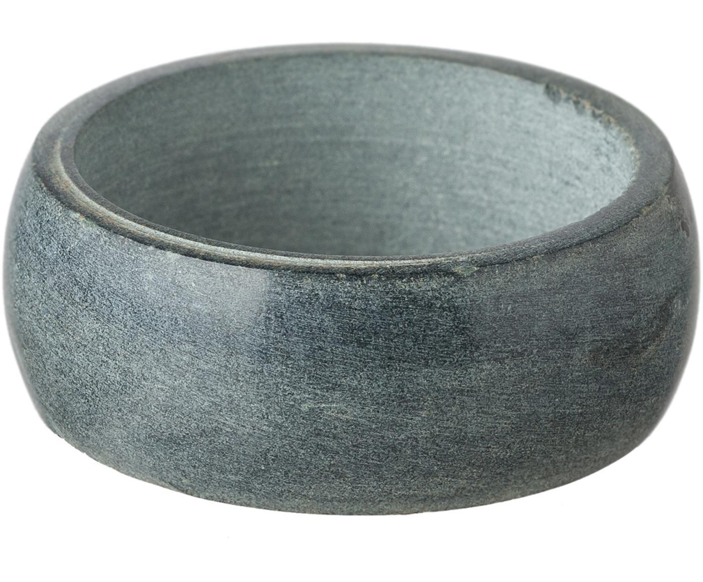Servetringen Soap Stone, 6 stuks, Zeepsteen, Antraciet, Ø 5 x H 2 cm