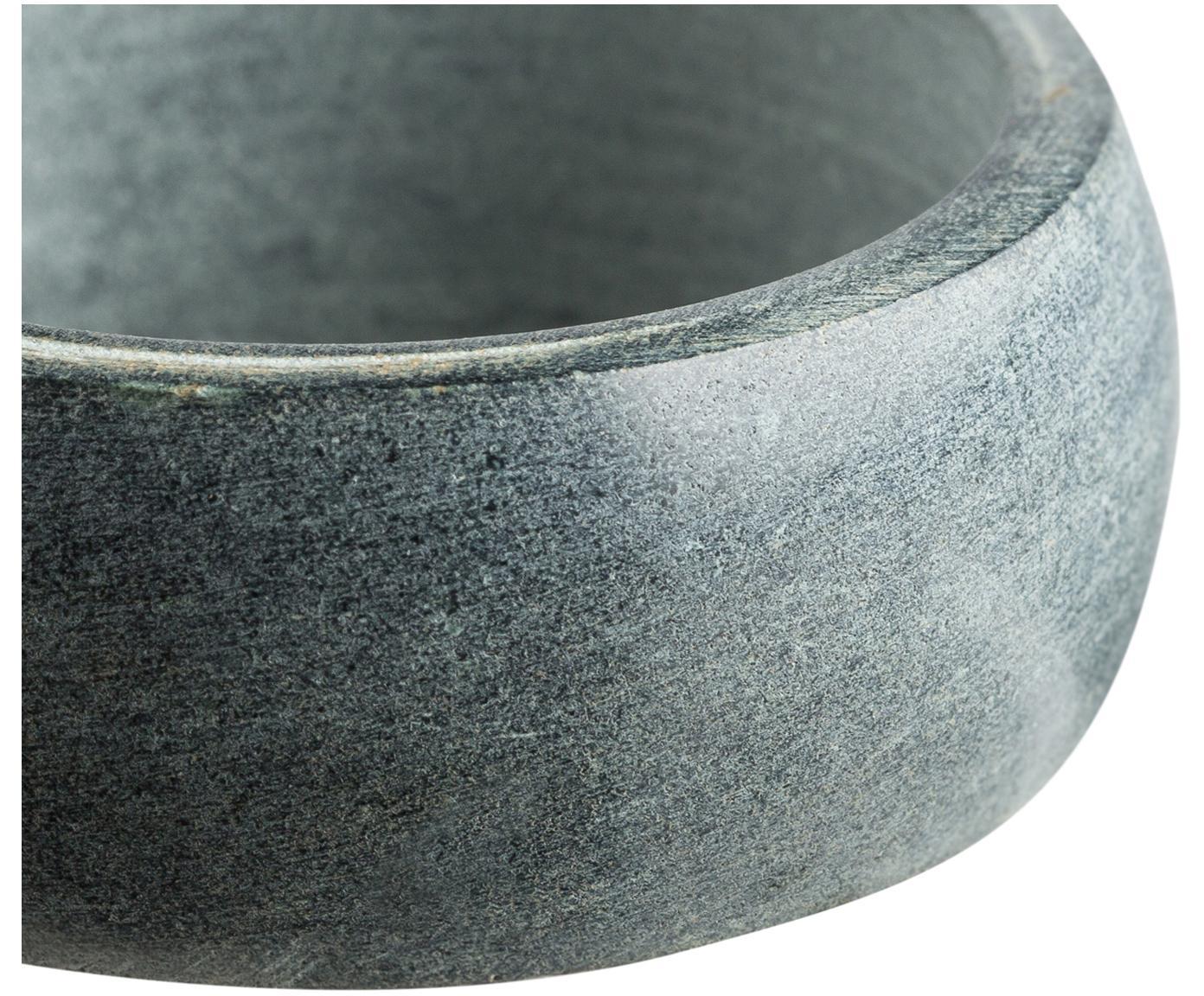 Serviettenringe Soap Stone, 6 Stück, Speckstein, Anthrazit, Ø 5 x H 2 cm