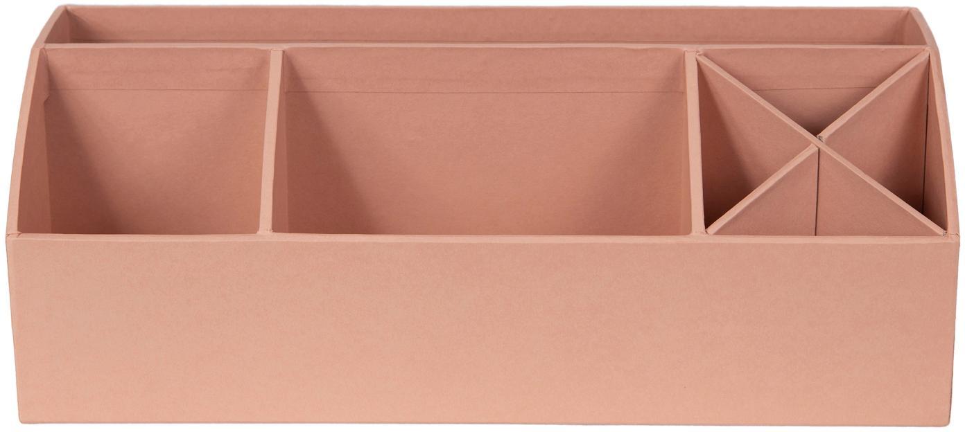 Organizer da ufficio Elisa, Solido, cartone laminato, Rosa cipria, Larg. 33 x Alt. 13 cm