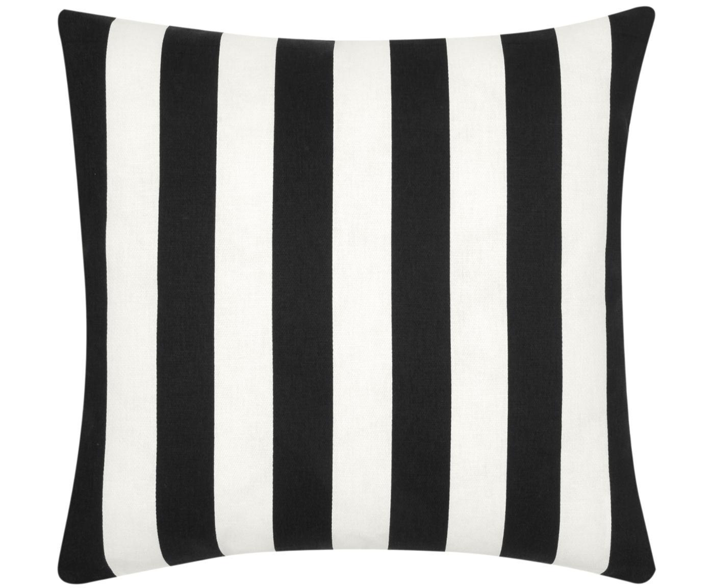Kussenhoes Timon, 100% katoen, Zwart, wit, 45 x 45 cm