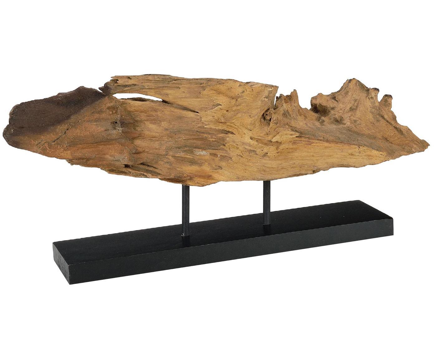 Deko-Objekt Acaia, Akazienholz, Braun, Schwarz, 50 x 28 cm