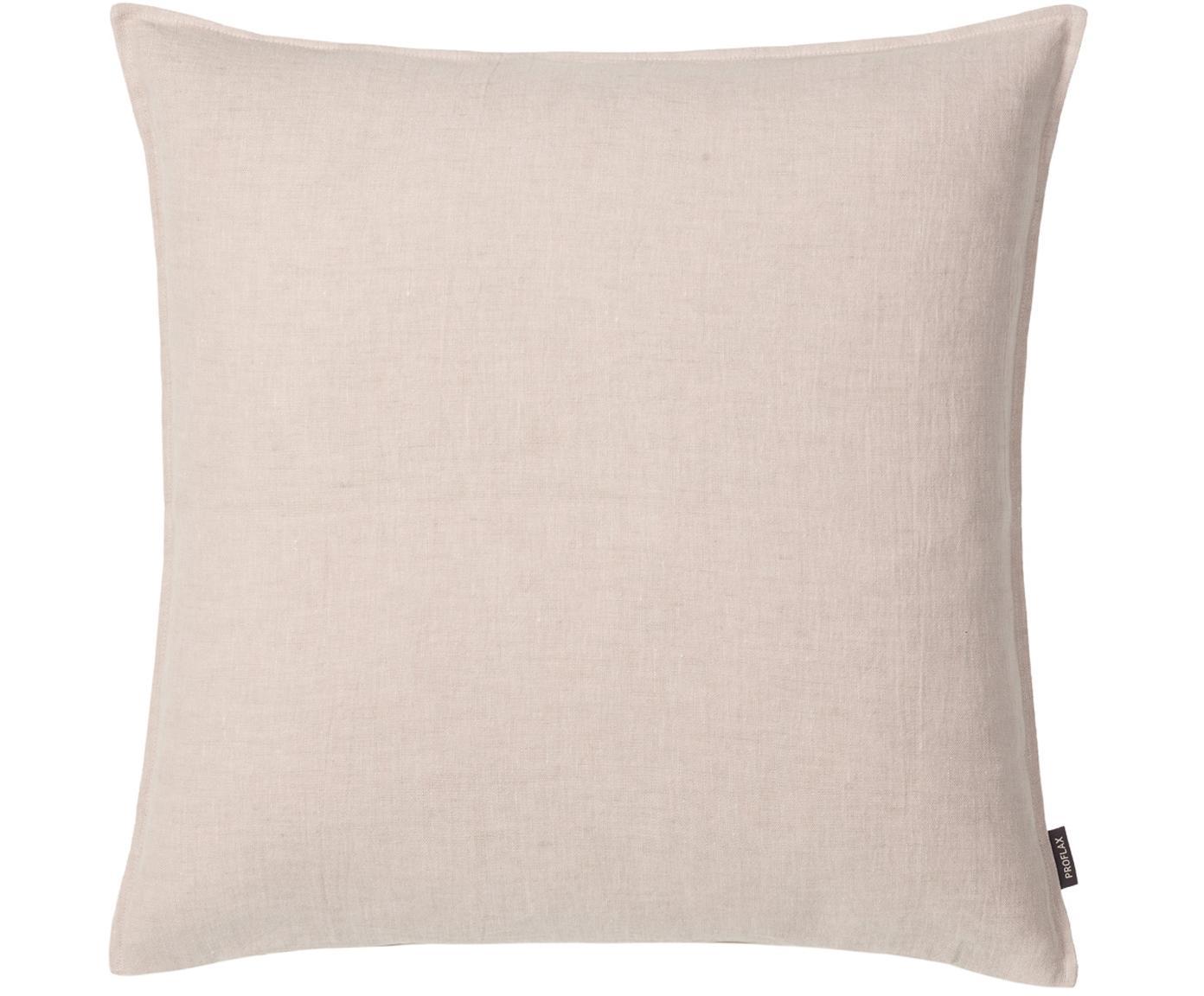 Federa arredo in lino lavato beige Sven, 100% lino, Beige, Larg. 60 x Lung. 60 cm