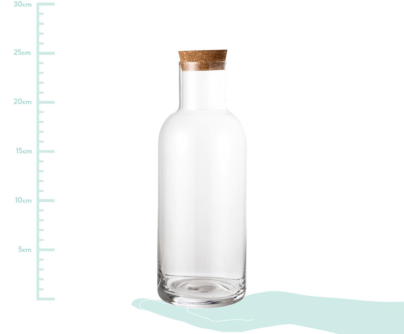 Caraffa trasparente Clearance, Coperchio: sughero, Trasparente, 1 l