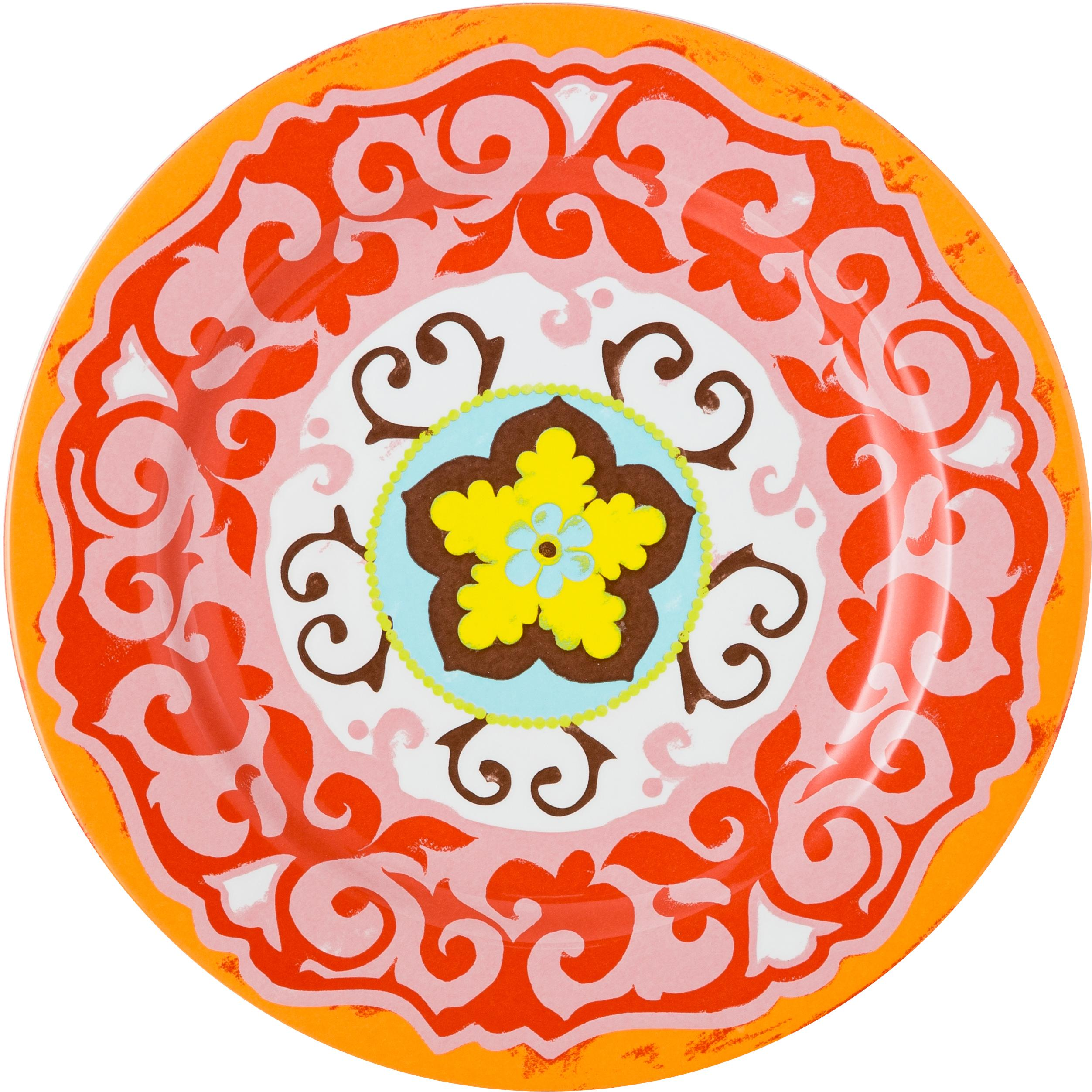 Speiseteller Nador, 6er-Set, Steingut, Mehrfarbig, Ø 27 cm